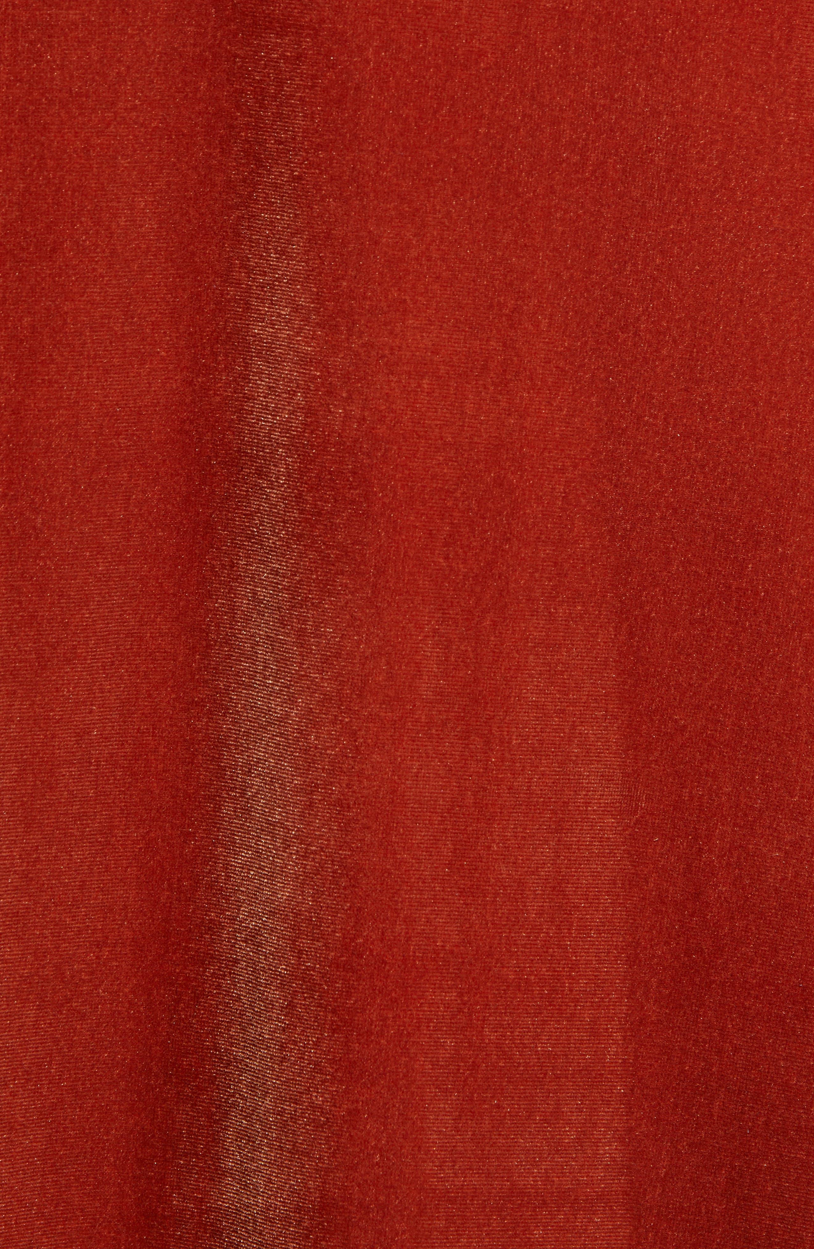 Ruffle Midi Dress,                             Alternate thumbnail 6, color,                             205