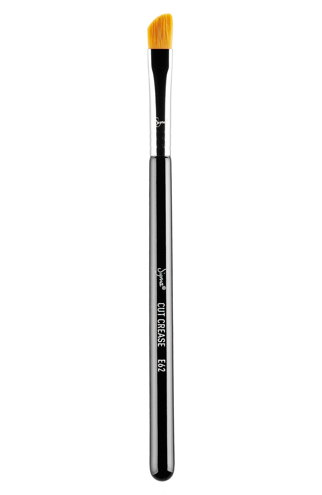 E62 Cut Crease Brush,                             Main thumbnail 1, color,                             NO COLOR
