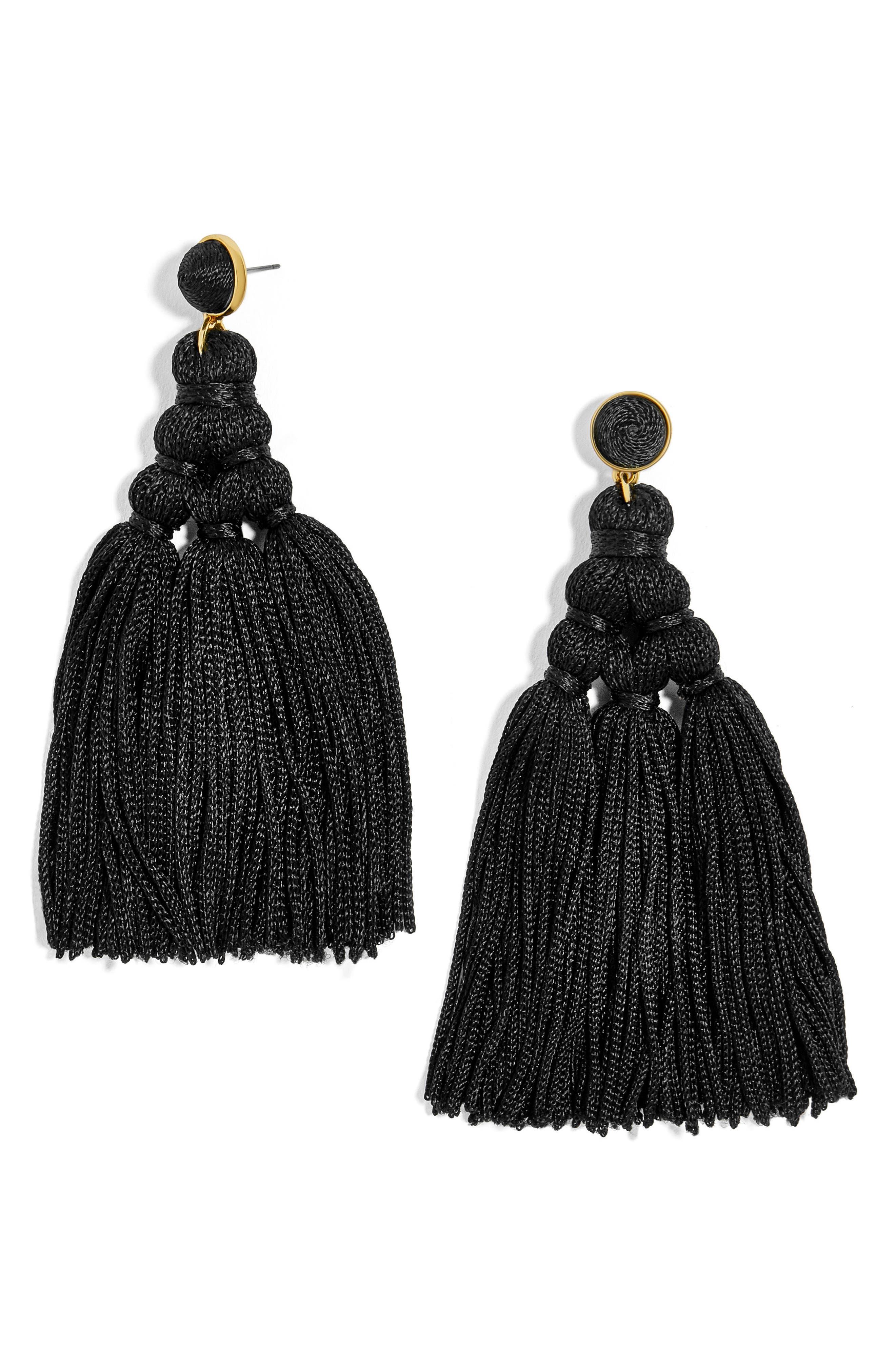 Miana Tassel Drop Earrings,                             Main thumbnail 1, color,                             001
