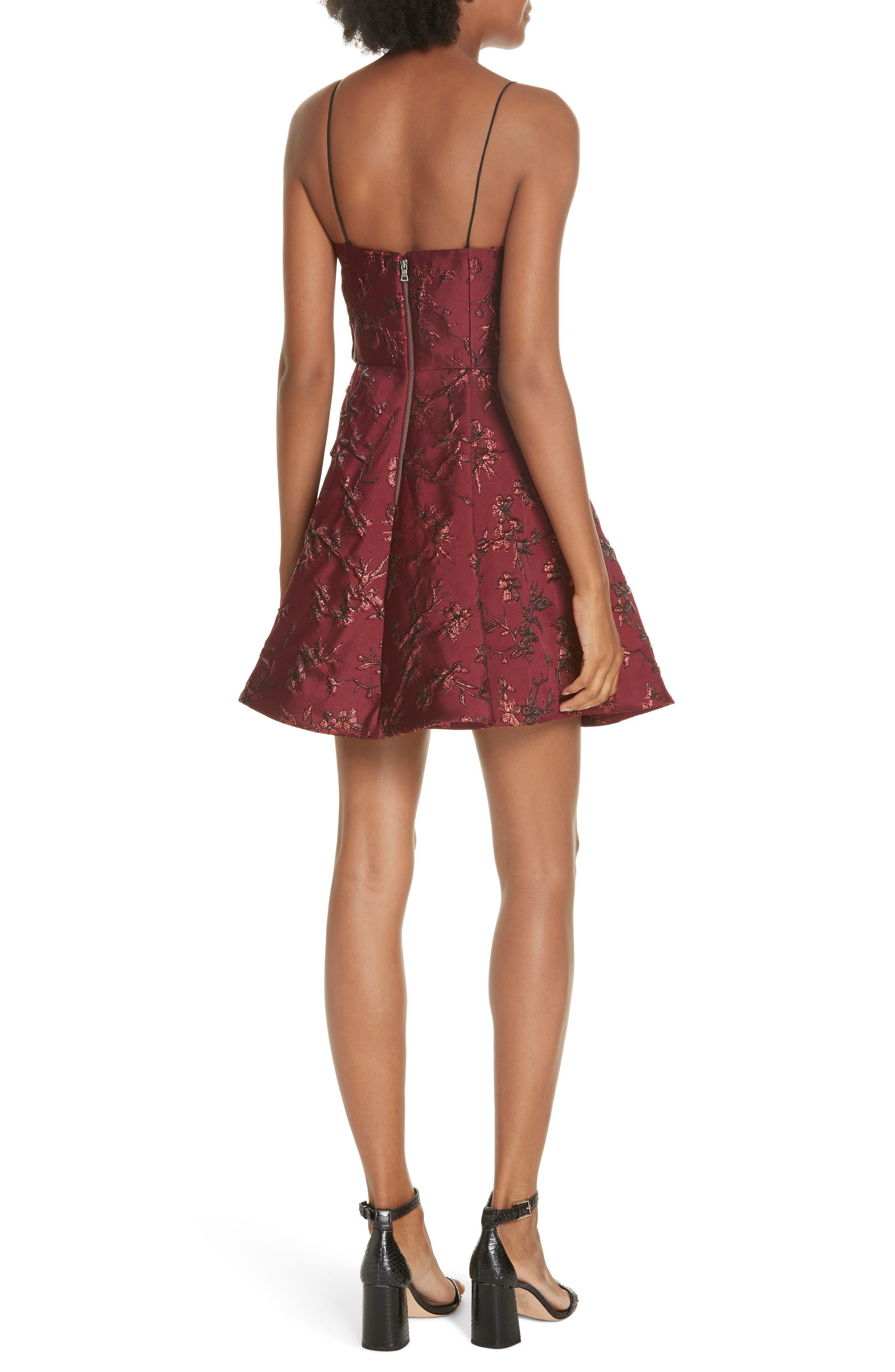 Anette Fit & Flare Party Dress,                             Alternate thumbnail 2, color,                             BORDEAUX
