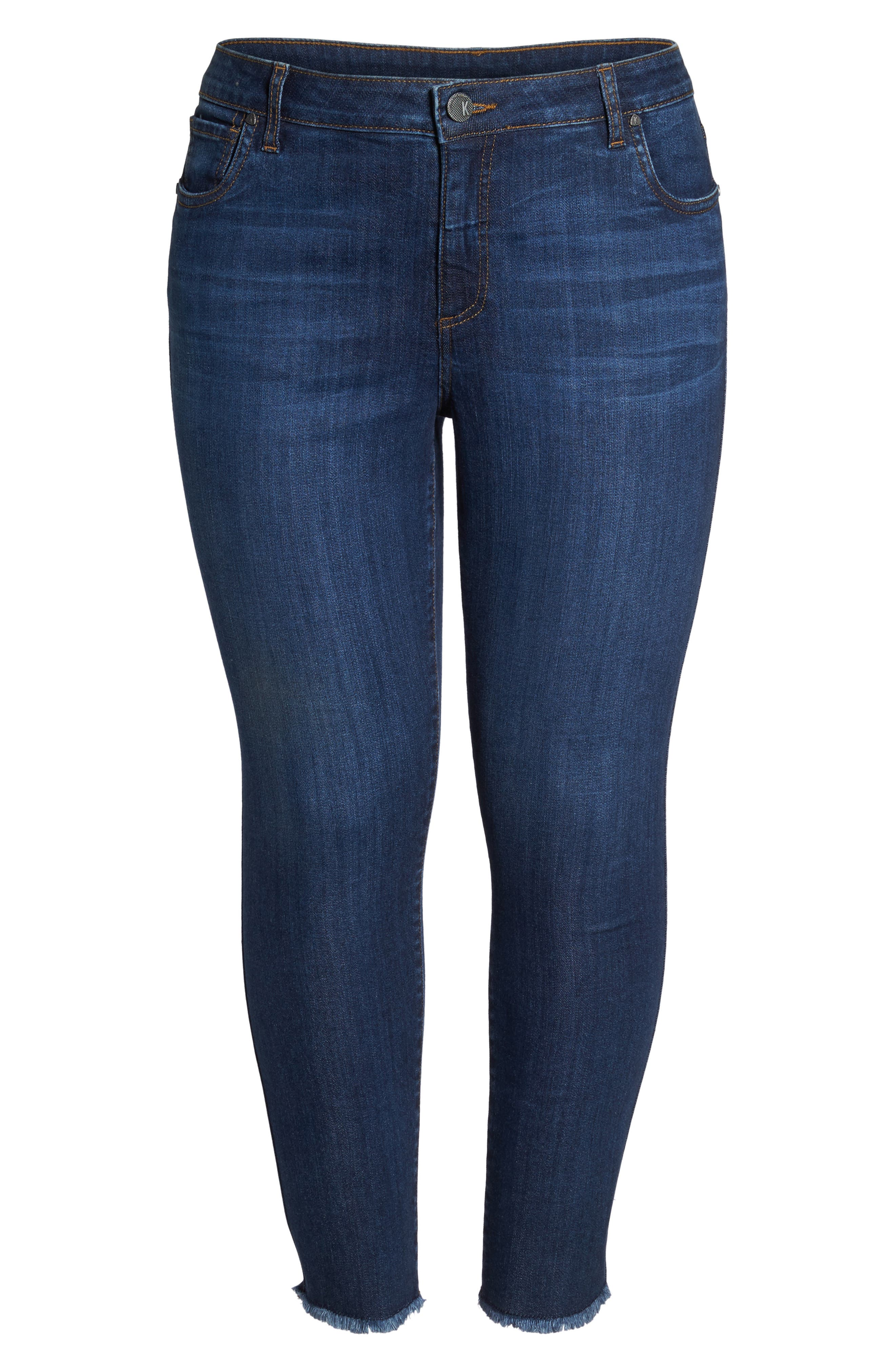 Reese Frayed Ankle Jeans,                             Alternate thumbnail 7, color,