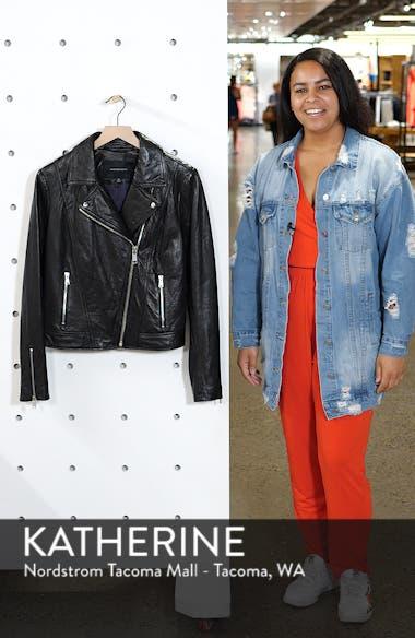 Washed Nappa Leather Moto Jacket, sales video thumbnail