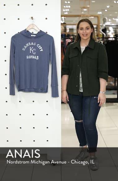 Campbell Kansas City Royals Rib Knit Hooded Top, sales video thumbnail