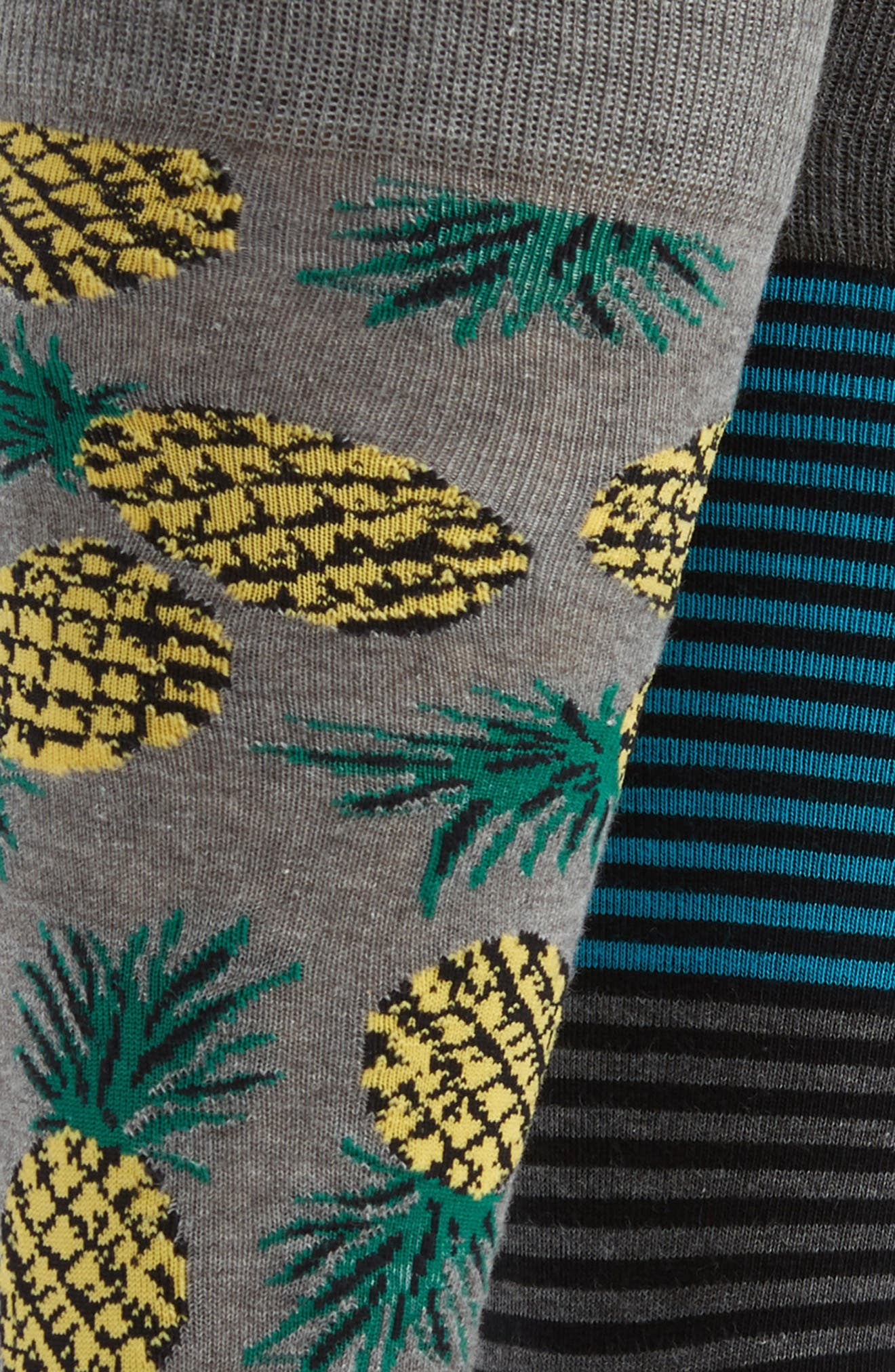 3-Pack Novelty Socks Box Set,                             Alternate thumbnail 2, color,                             AVOCADO/ PINEAPPLE/ STRIPE