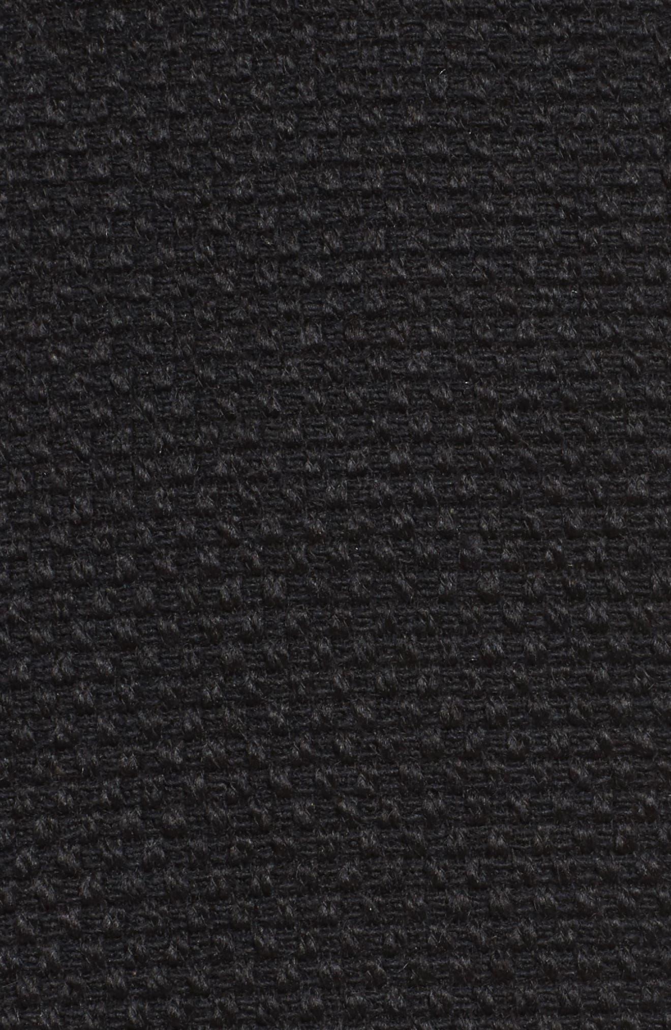 Waffle Woven Coat,                             Alternate thumbnail 6, color,                             001