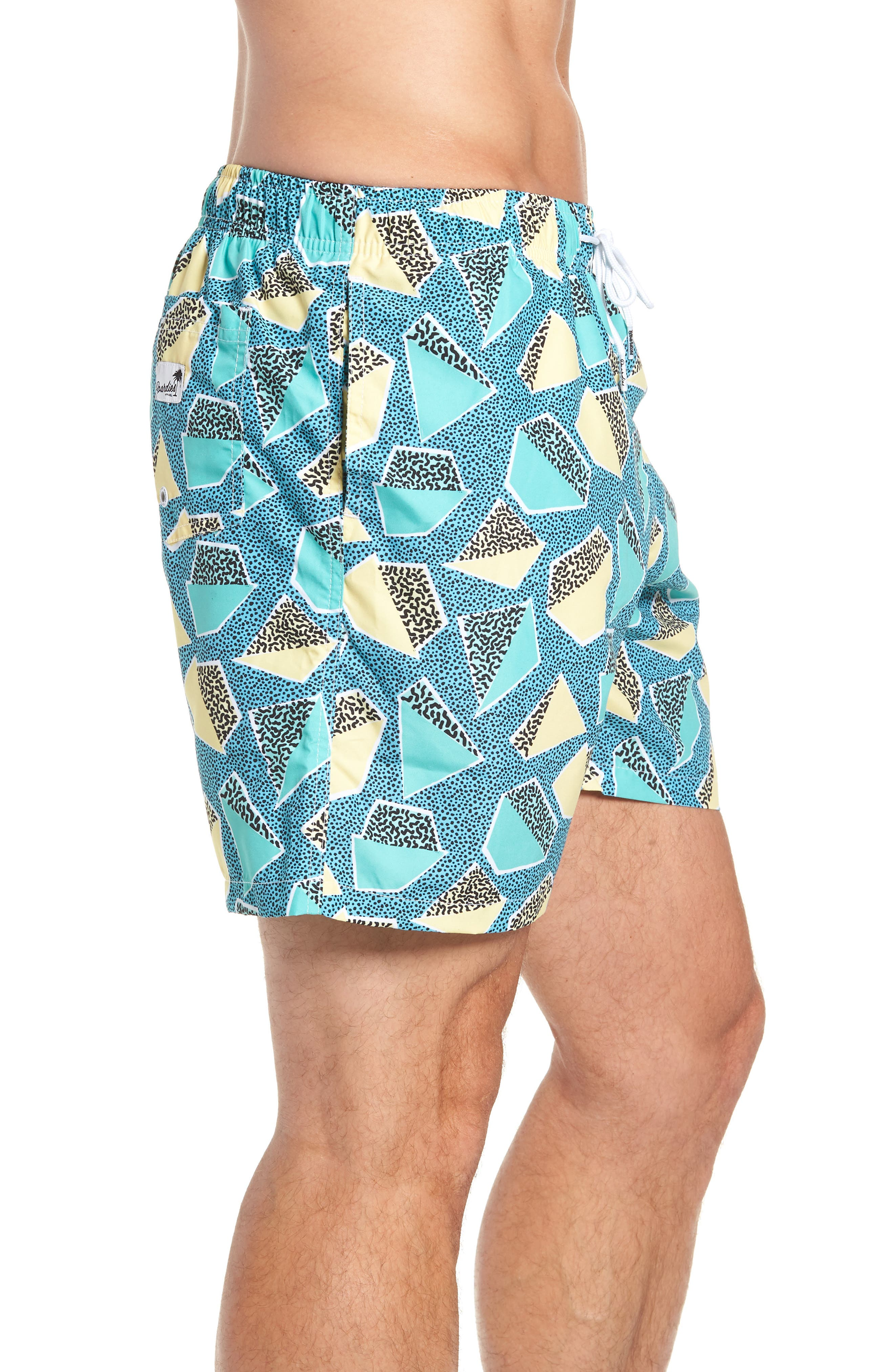 Everglades Swim Trunks,                             Alternate thumbnail 3, color,                             GREEN