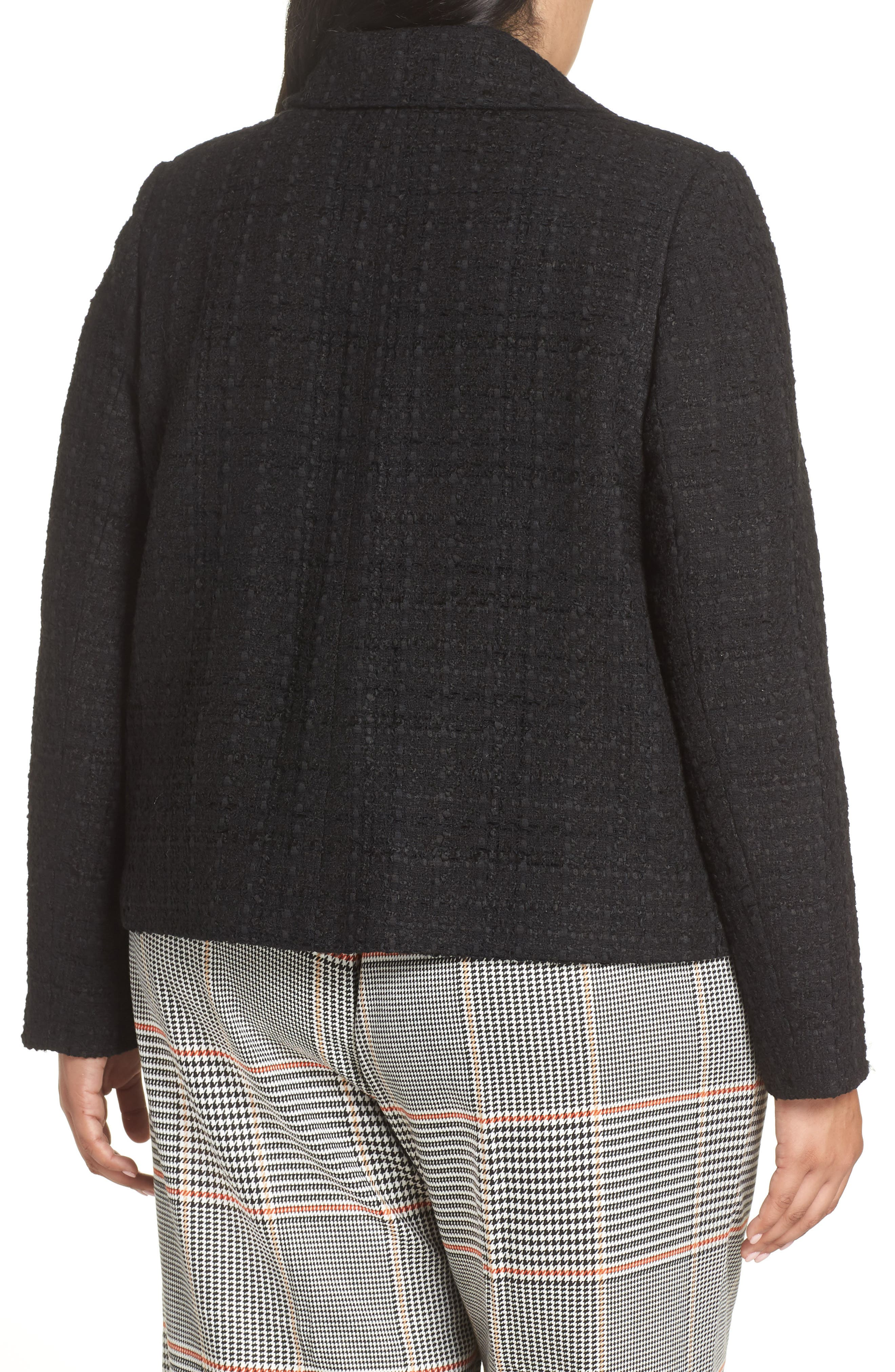 x Atlantic-Pacific Bow Detail Tweed Jacket,                             Alternate thumbnail 2, color,                             001