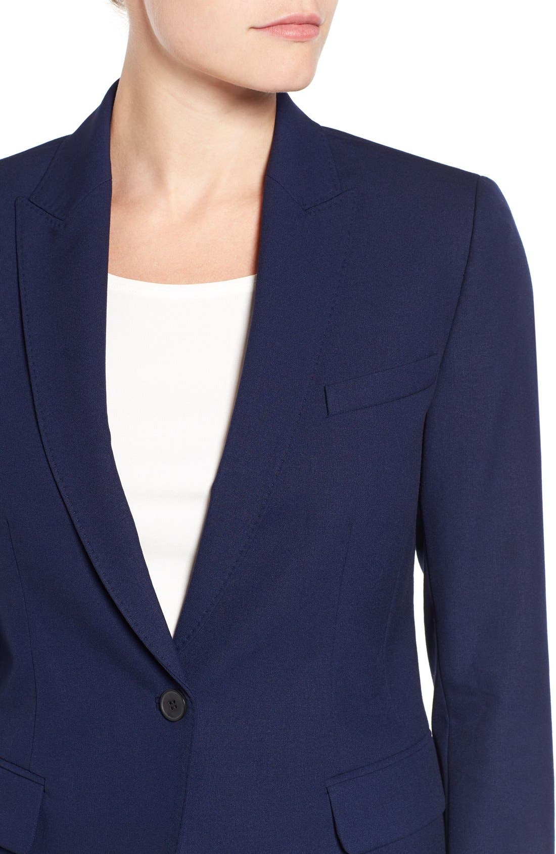 One-Button Suit Jacket,                             Alternate thumbnail 6, color,                             NAVY