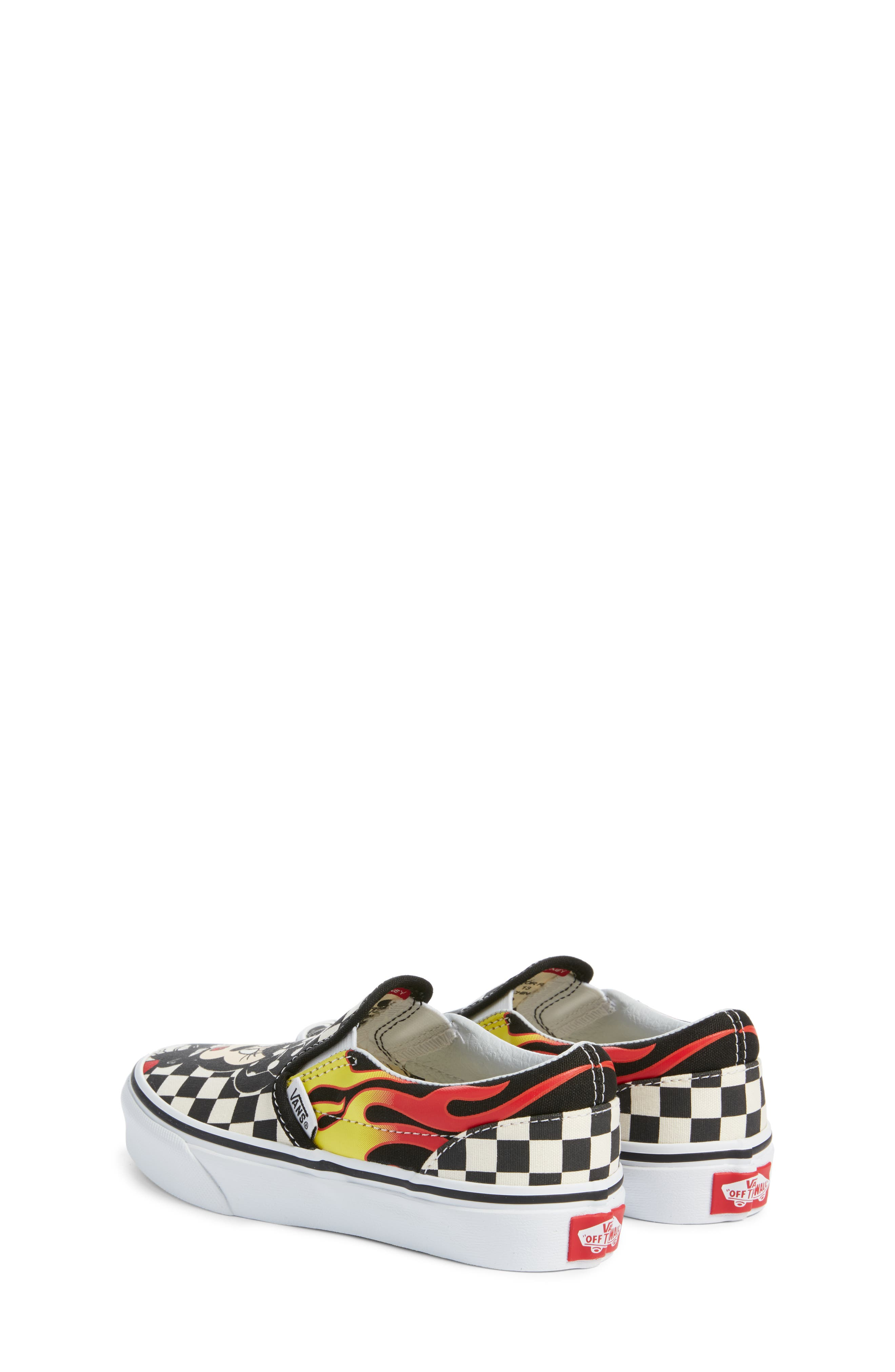 x Disney Mickey Mouse Classic Slip-On Sneaker,                             Alternate thumbnail 3, color,                             DISNEY MICKEY MINNIE
