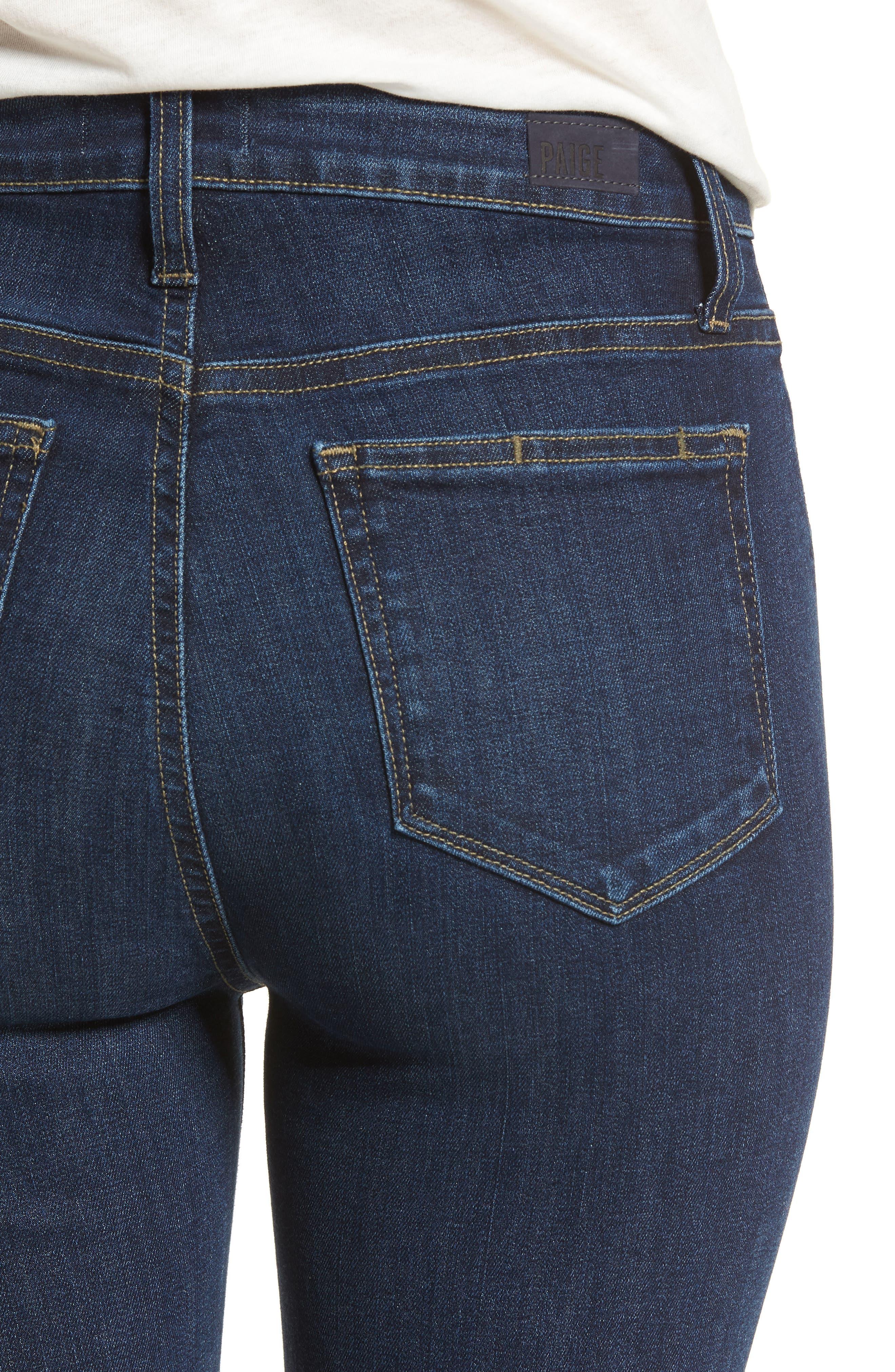 Margot High Waist Ankle Straight Leg Jeans,                             Alternate thumbnail 4, color,