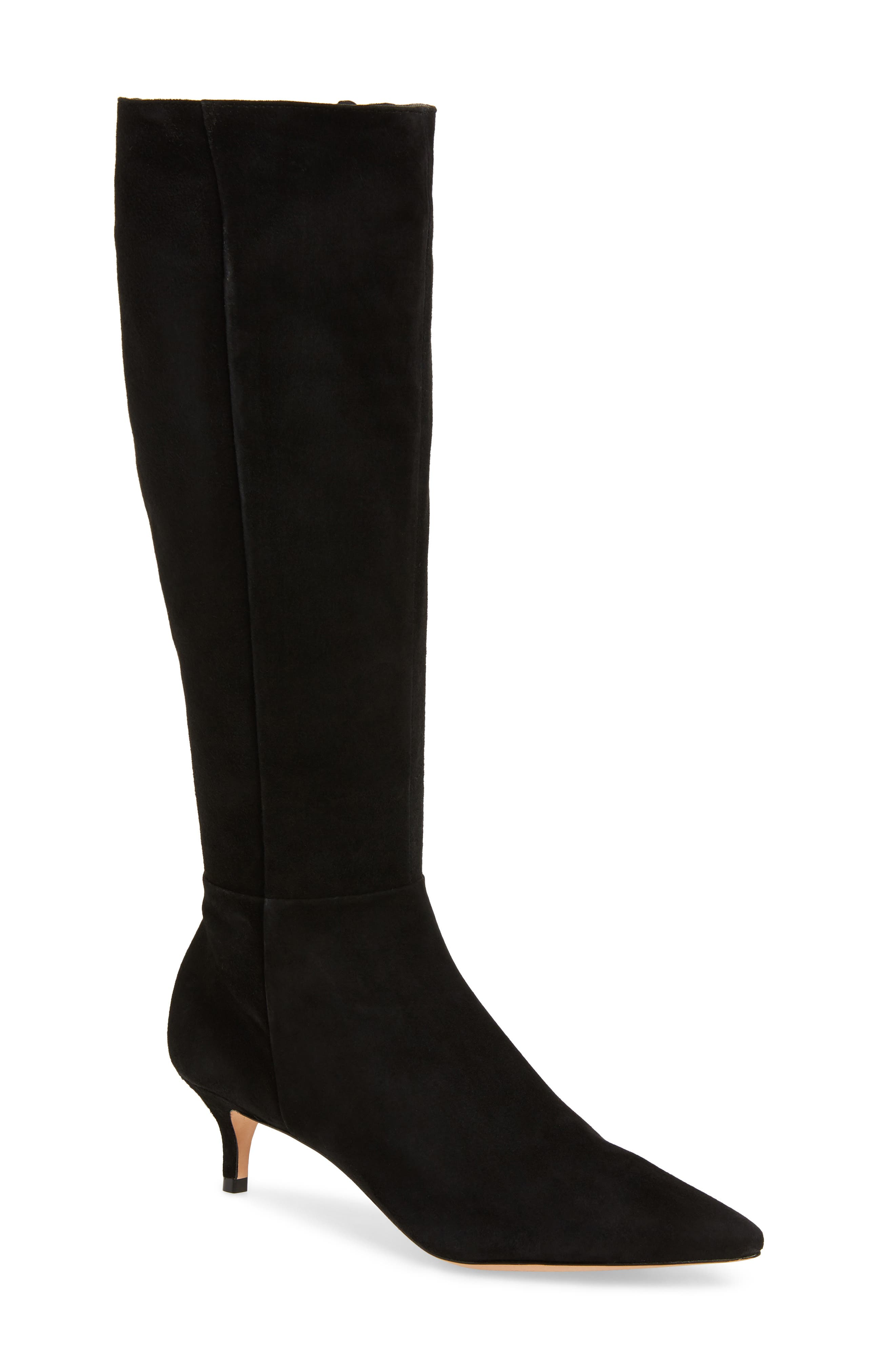 Knee High Boot,                             Main thumbnail 1, color,                             BLACK FABRIC