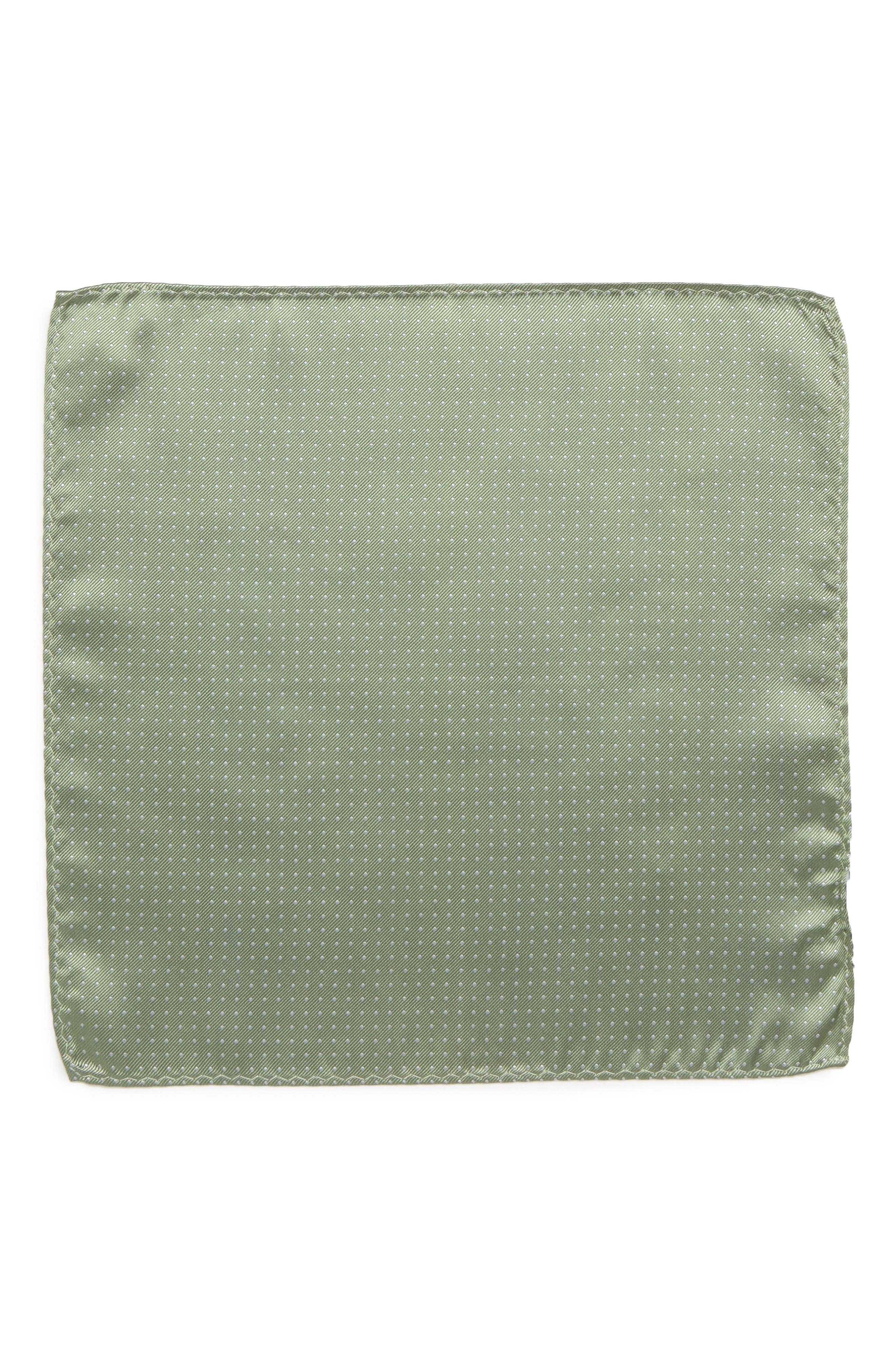 Mini Dots Silk Pocket Square,                             Alternate thumbnail 2, color,                             357