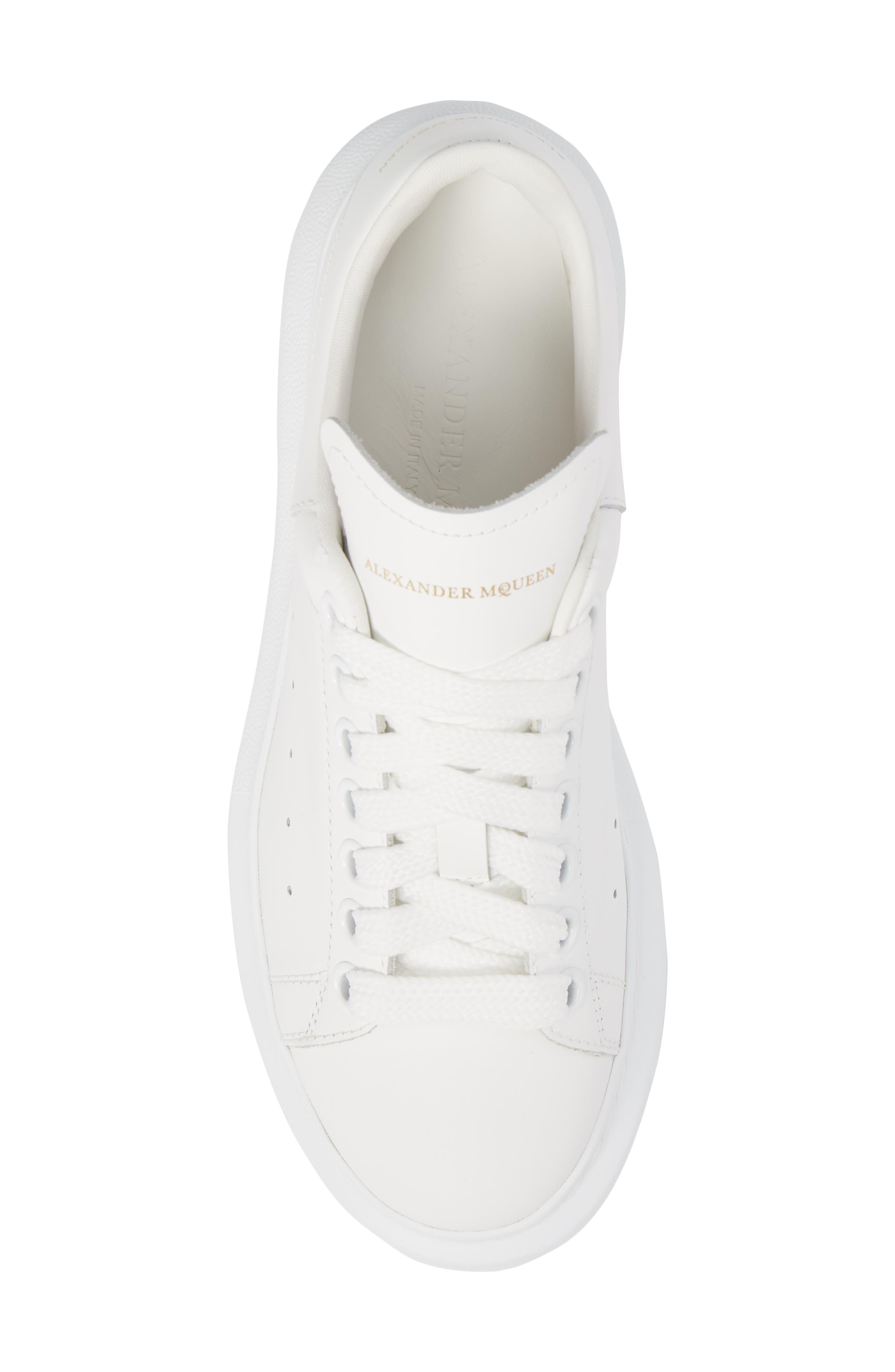 ALEXANDER MCQUEEN,                             Sneaker,                             Alternate thumbnail 5, color,                             WHITE/ WHITE