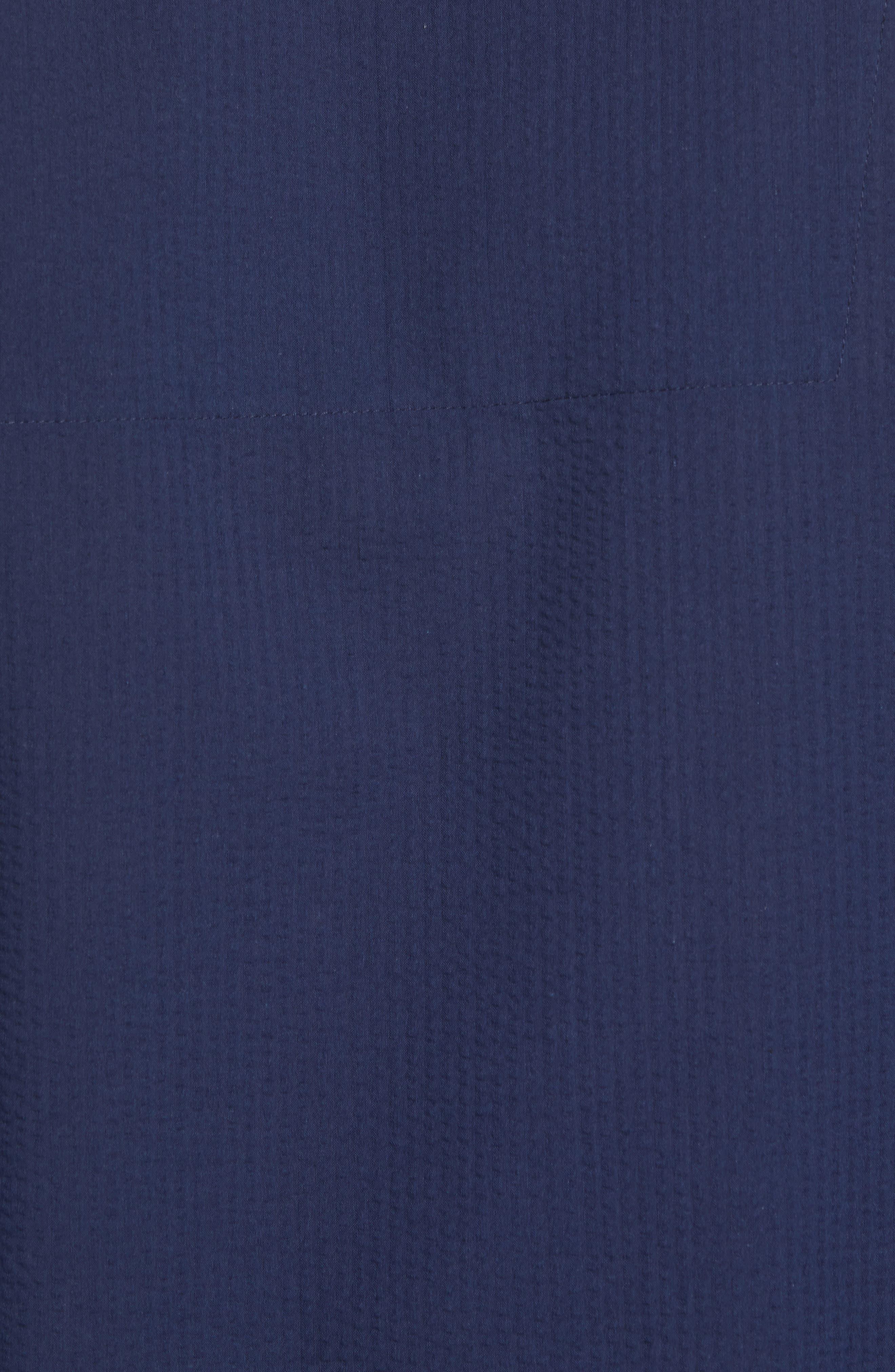 Seersucker Pajama Shirt,                             Alternate thumbnail 5, color,                             421