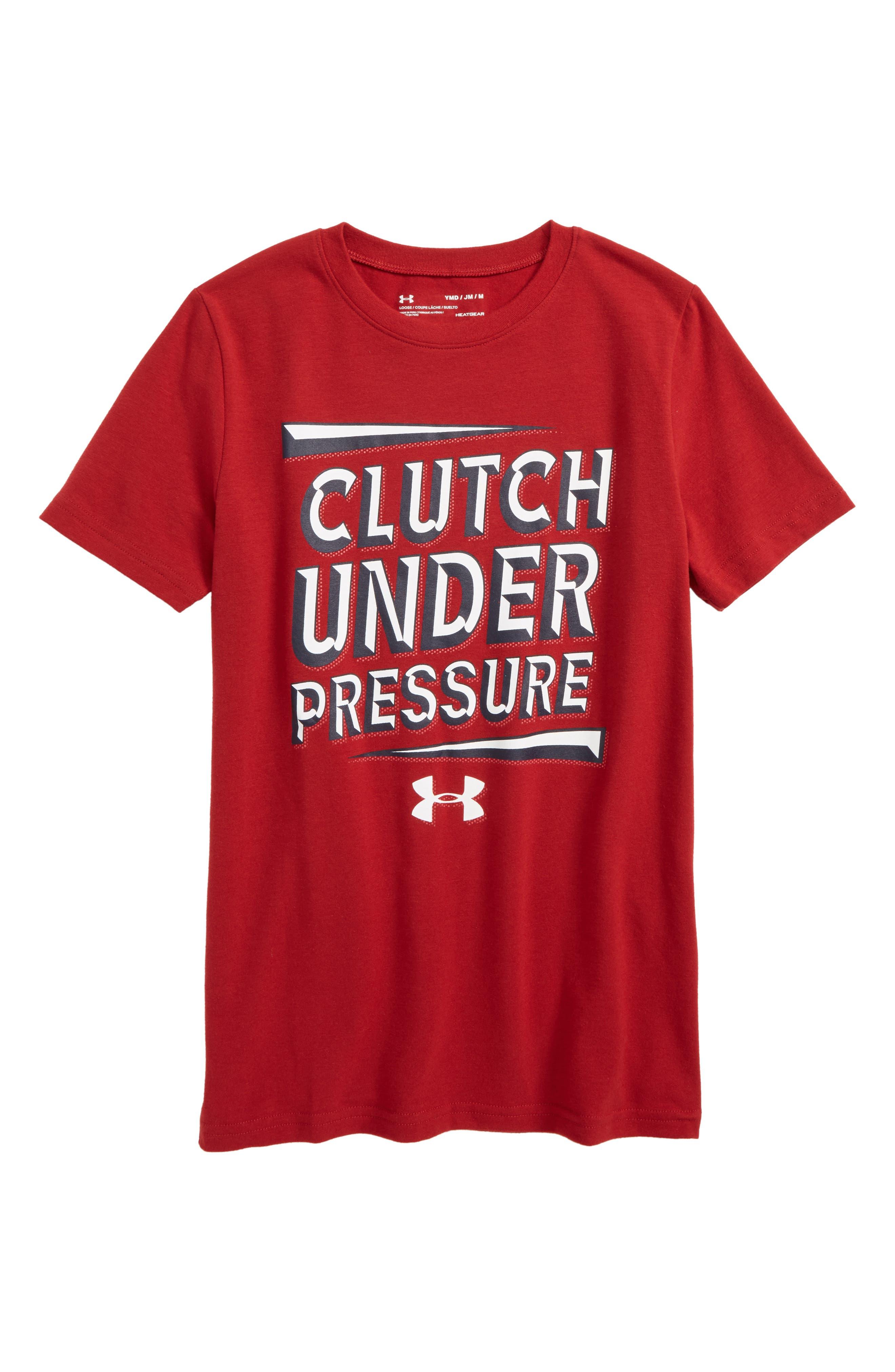 Clutch under Pressure Graphic HeatGear<sup>®</sup> T-Shirt,                             Main thumbnail 2, color,
