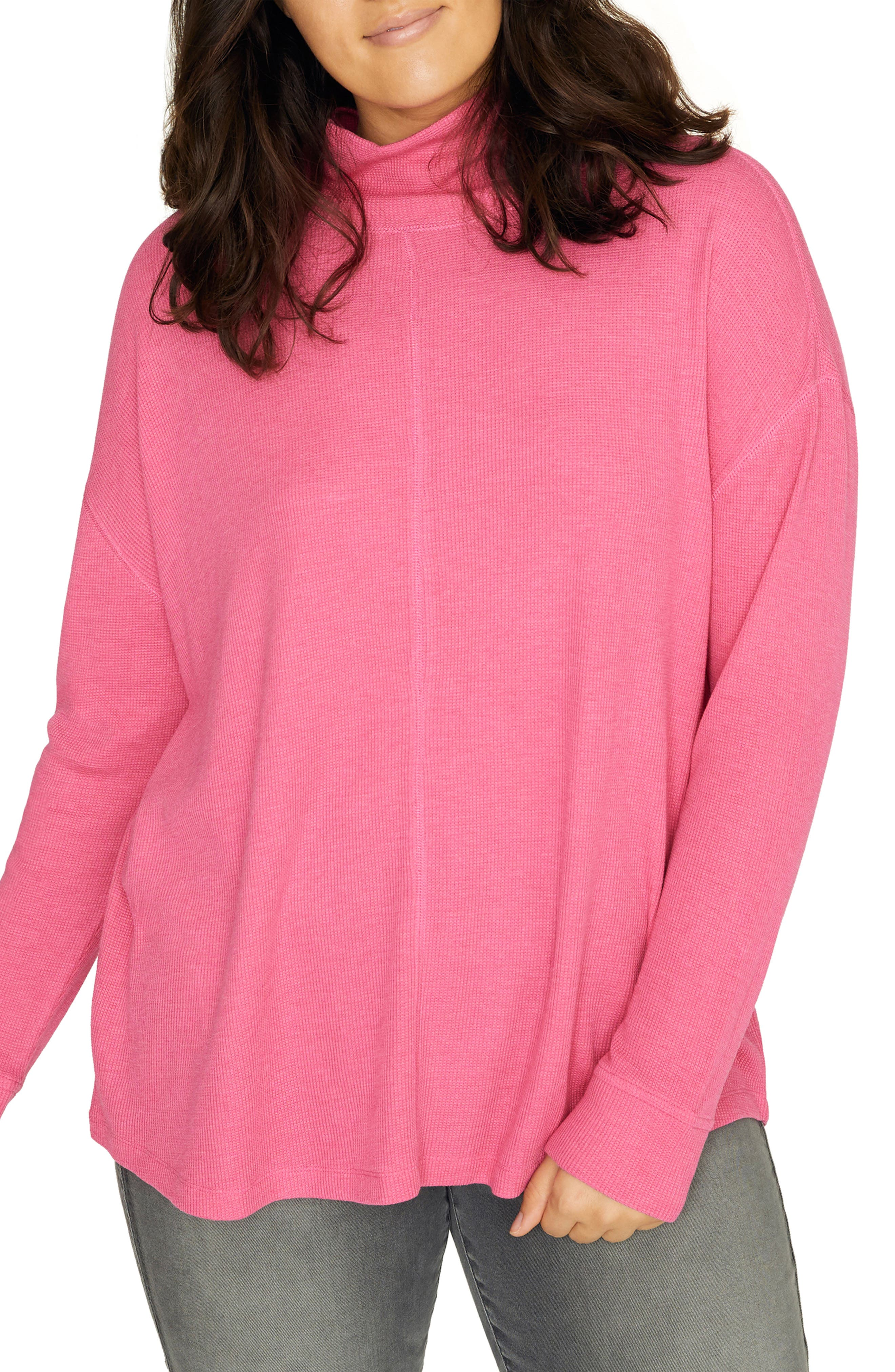 Plus Size Sanctuary Highroad Thermal Tee, Pink