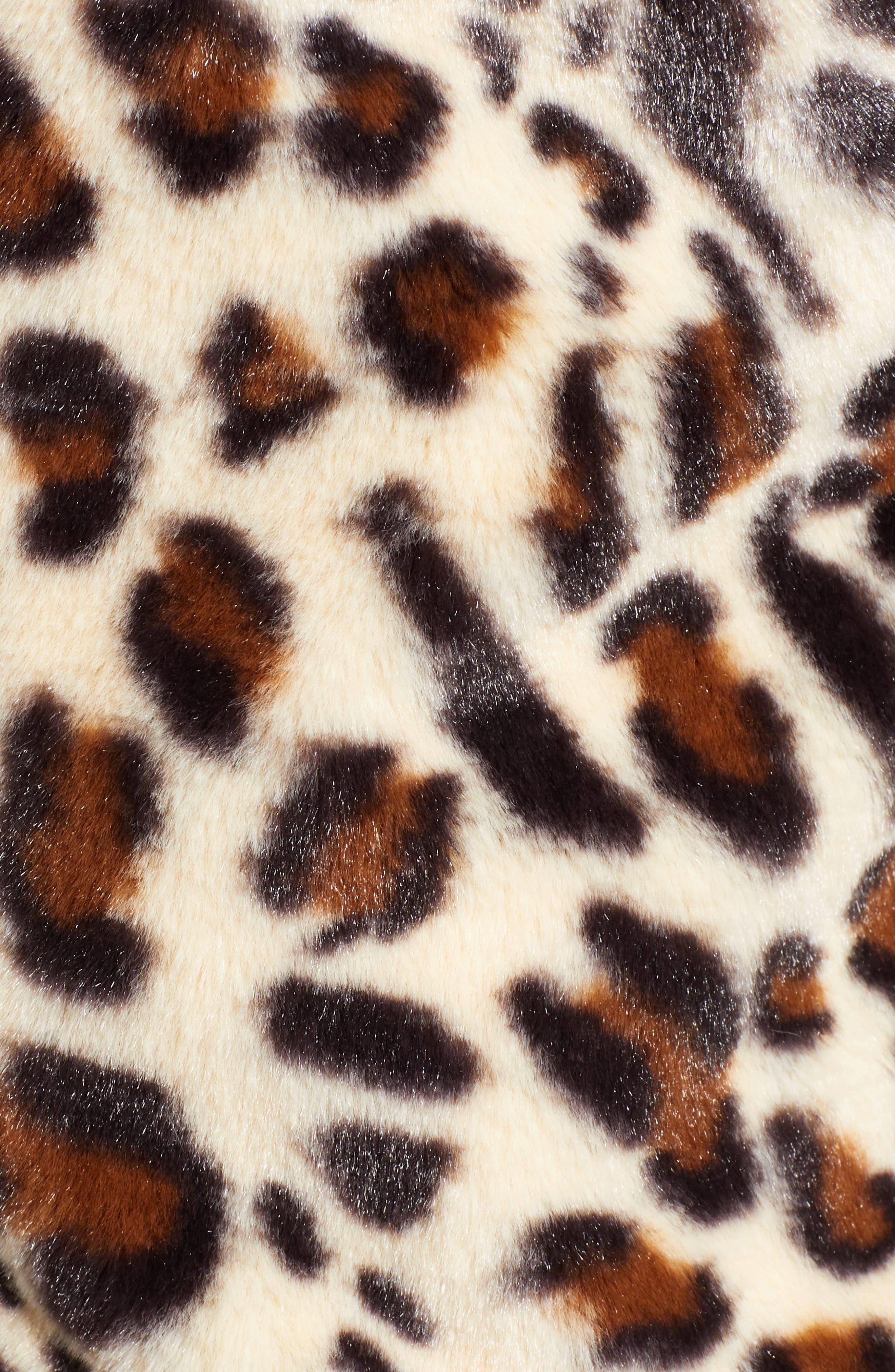 Mimi Faux Fur Jacket,                             Alternate thumbnail 7, color,                             LEOPARD