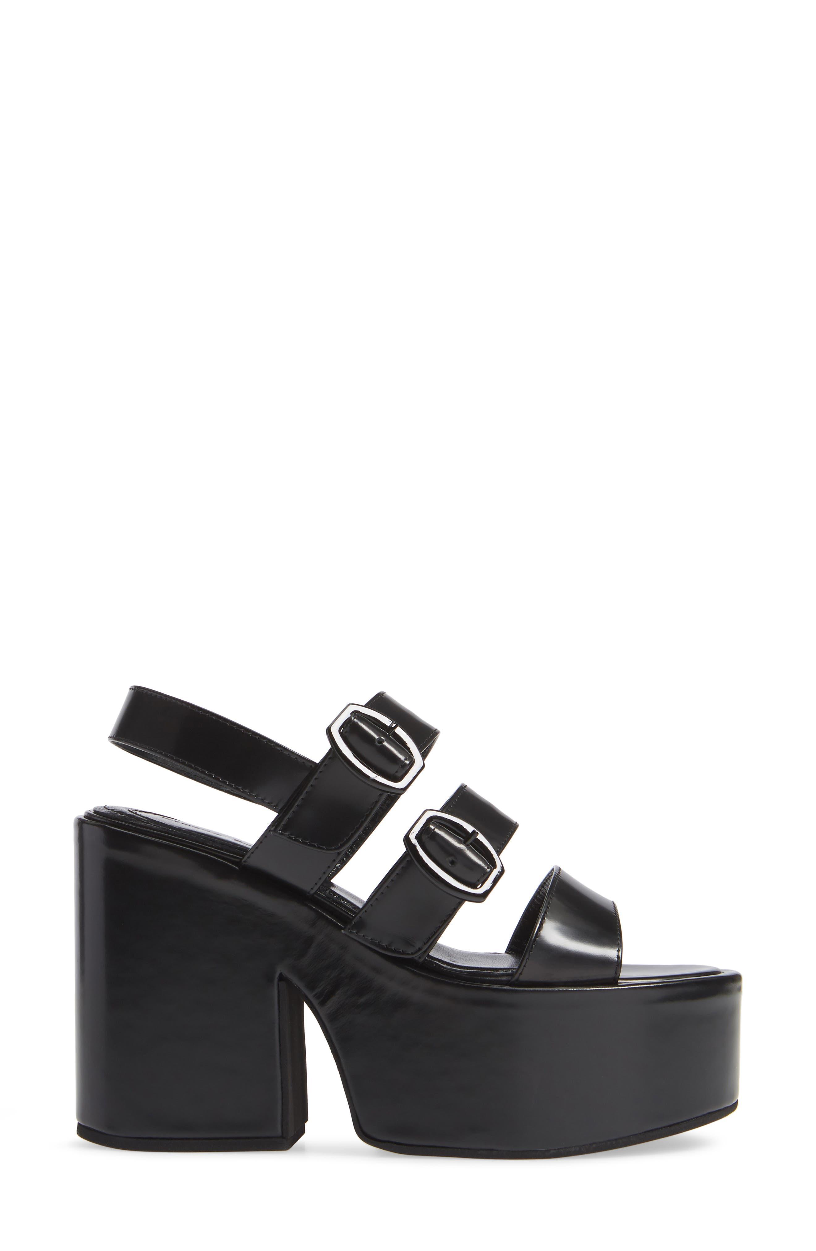 SIMONE ROCHA,                             Strappy Platform Sandal,                             Alternate thumbnail 3, color,                             001