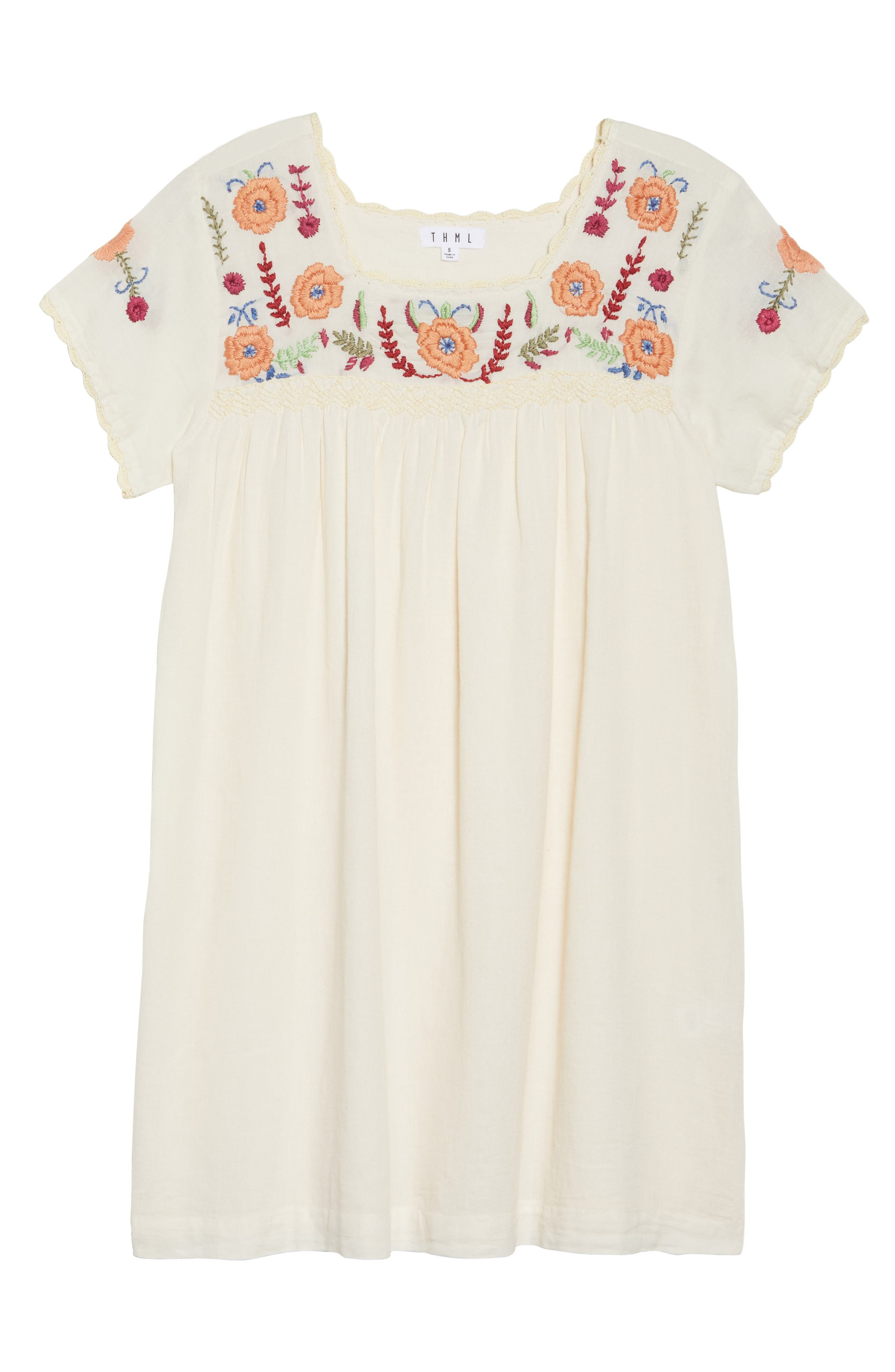 Embroidered Shift Dress,                             Alternate thumbnail 6, color,