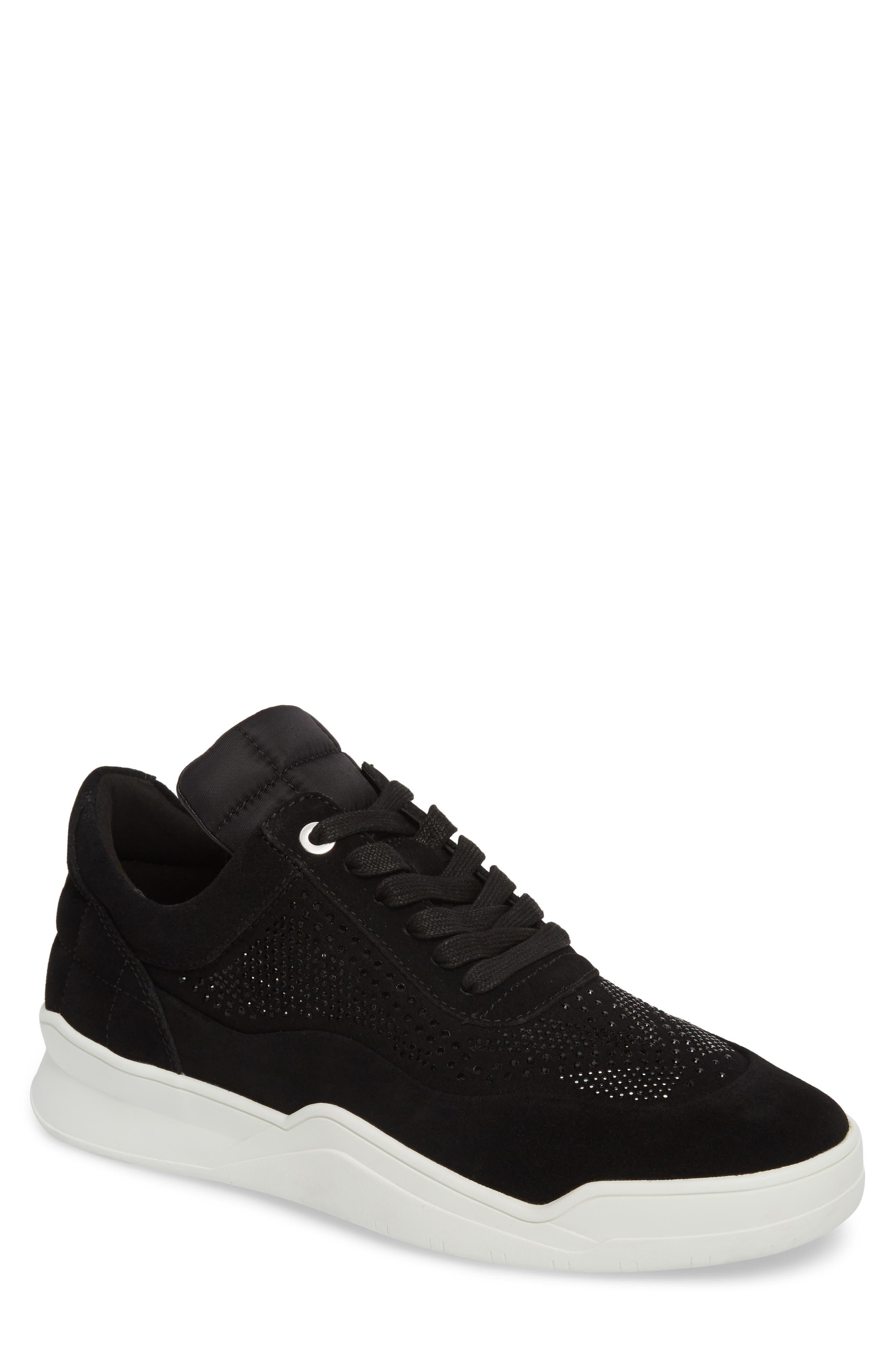 Karl Lagerfeld Paris Mid-Top Sneaker- Black
