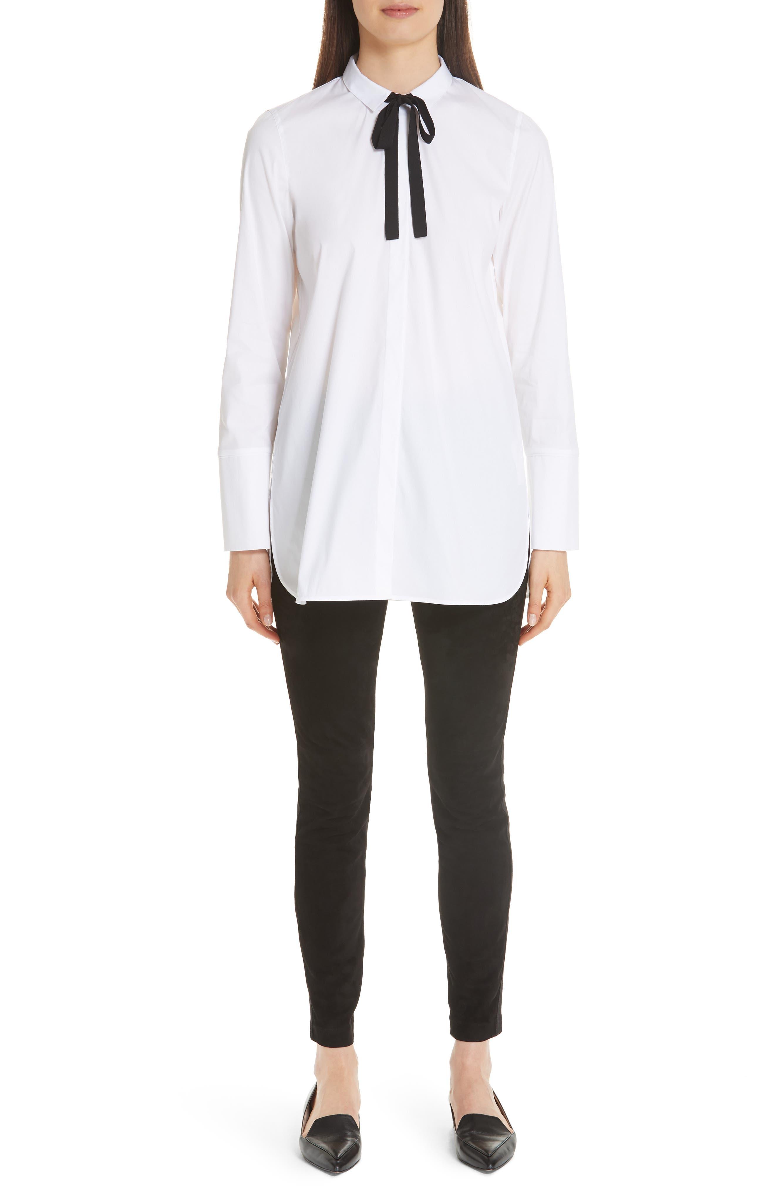 Annaliese Shirt,                             Alternate thumbnail 9, color,                             WHITE