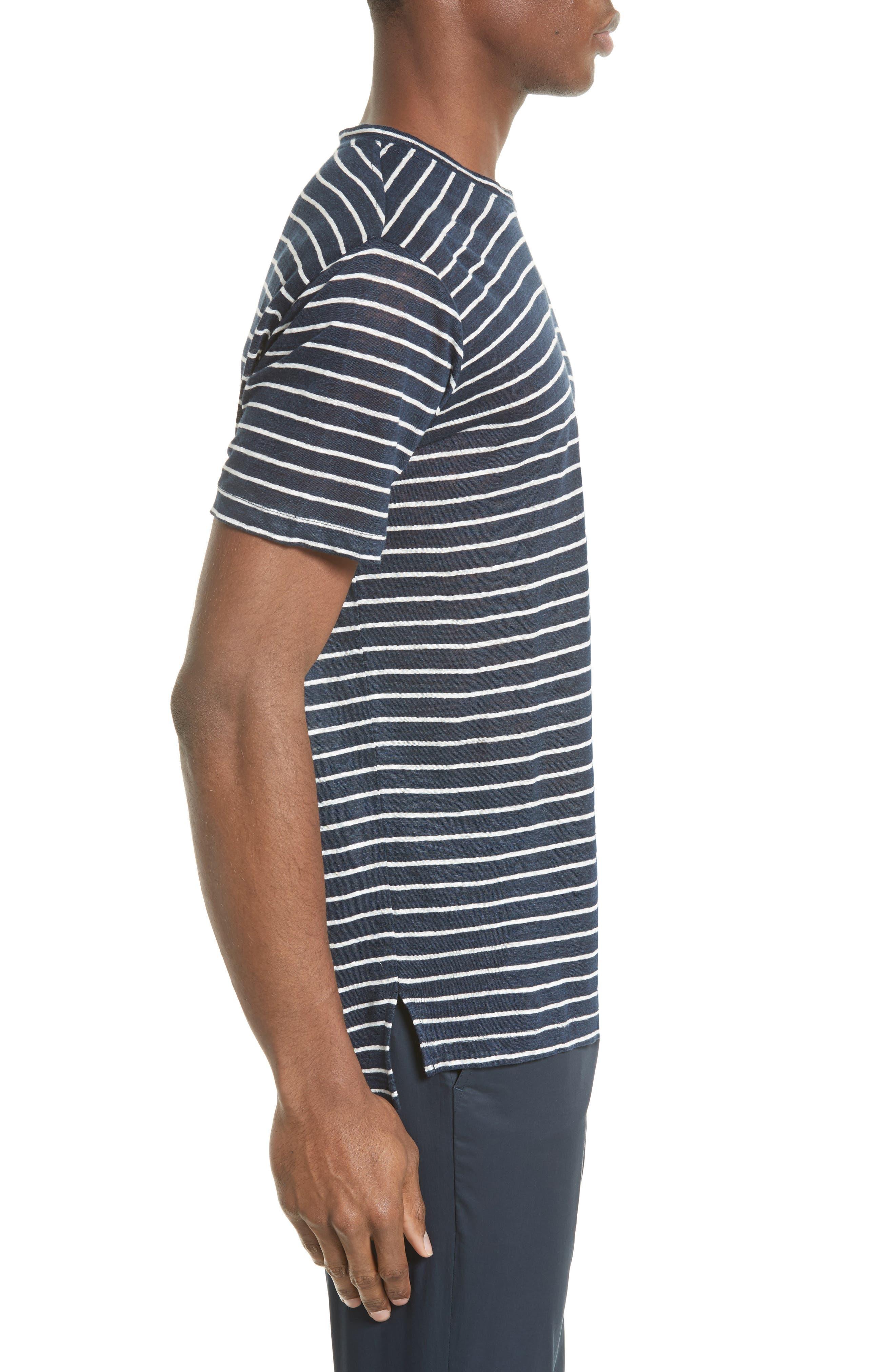 Stripe Linen Jersey T-Shirt,                             Alternate thumbnail 2, color,                             401