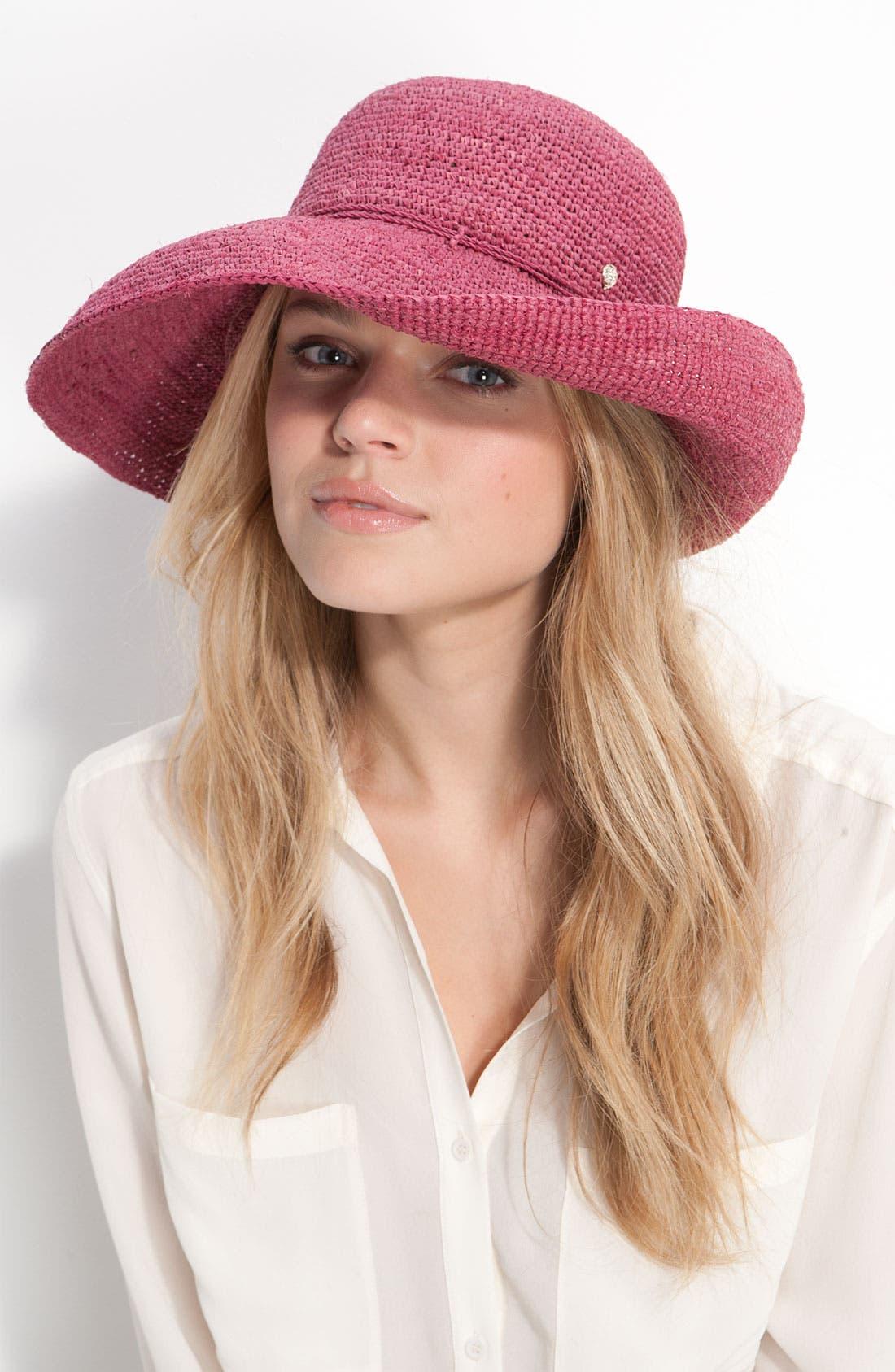 'Provence 12' Packable Raffia Hat,                             Main thumbnail 9, color,