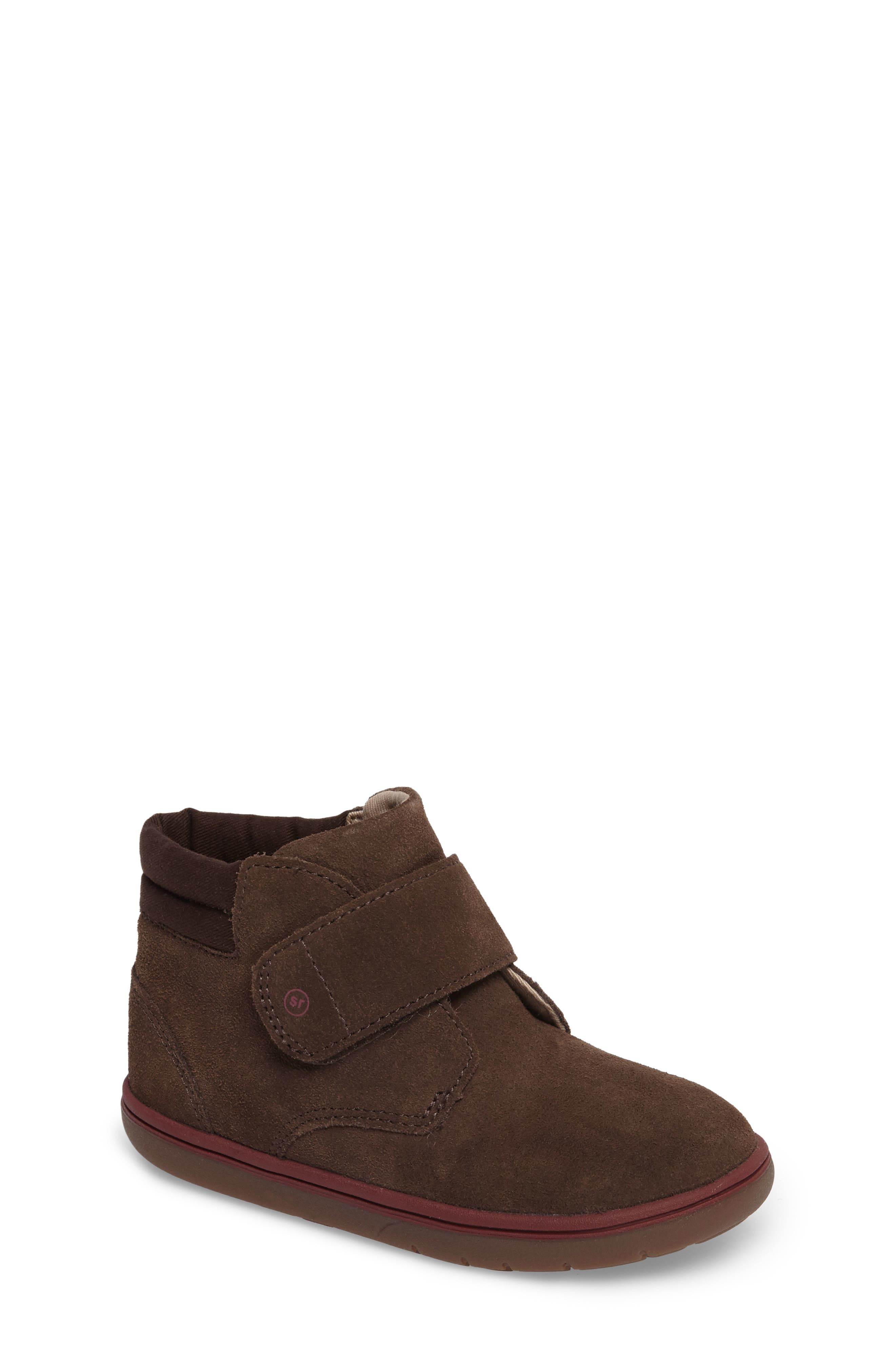 SRtech<sup>™</sup> Lincoln Bootie,                             Main thumbnail 1, color,                             BROWN SUEDE