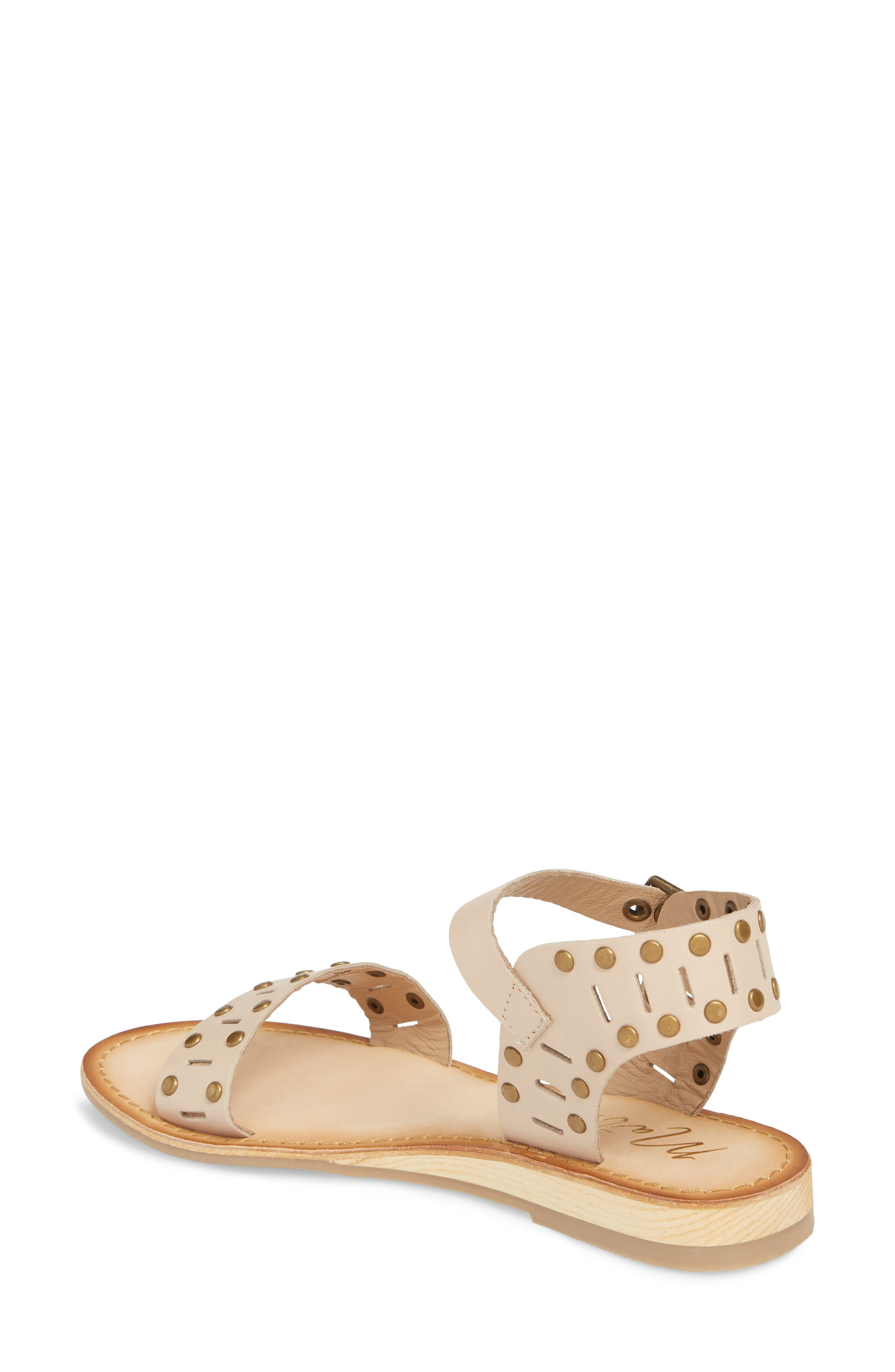 Ravenna Quarter Strap Sandal,                             Alternate thumbnail 2, color,                             NATURAL LEATHER
