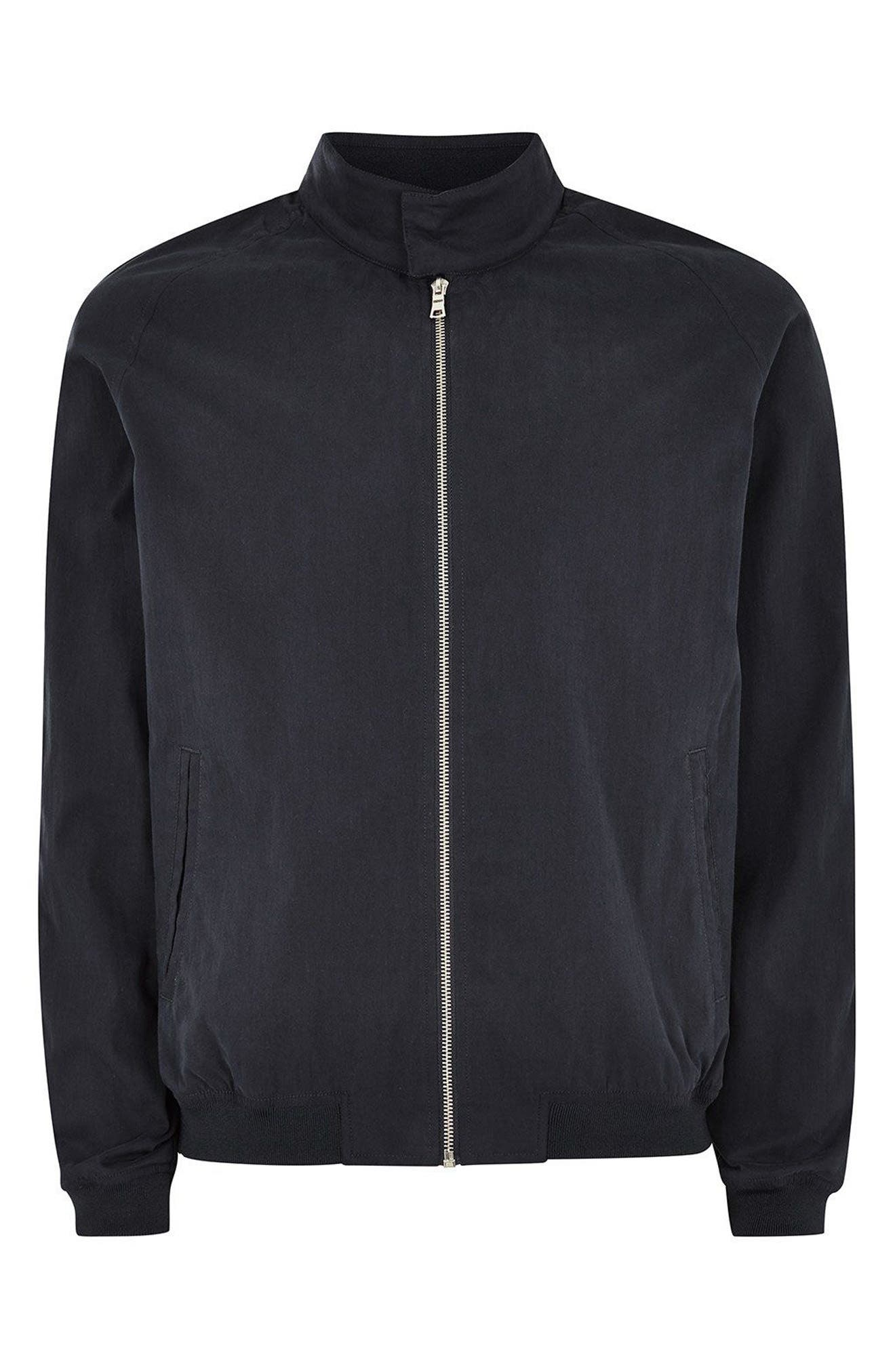 Harrington Jacket,                             Alternate thumbnail 4, color,                             DARK BLUE