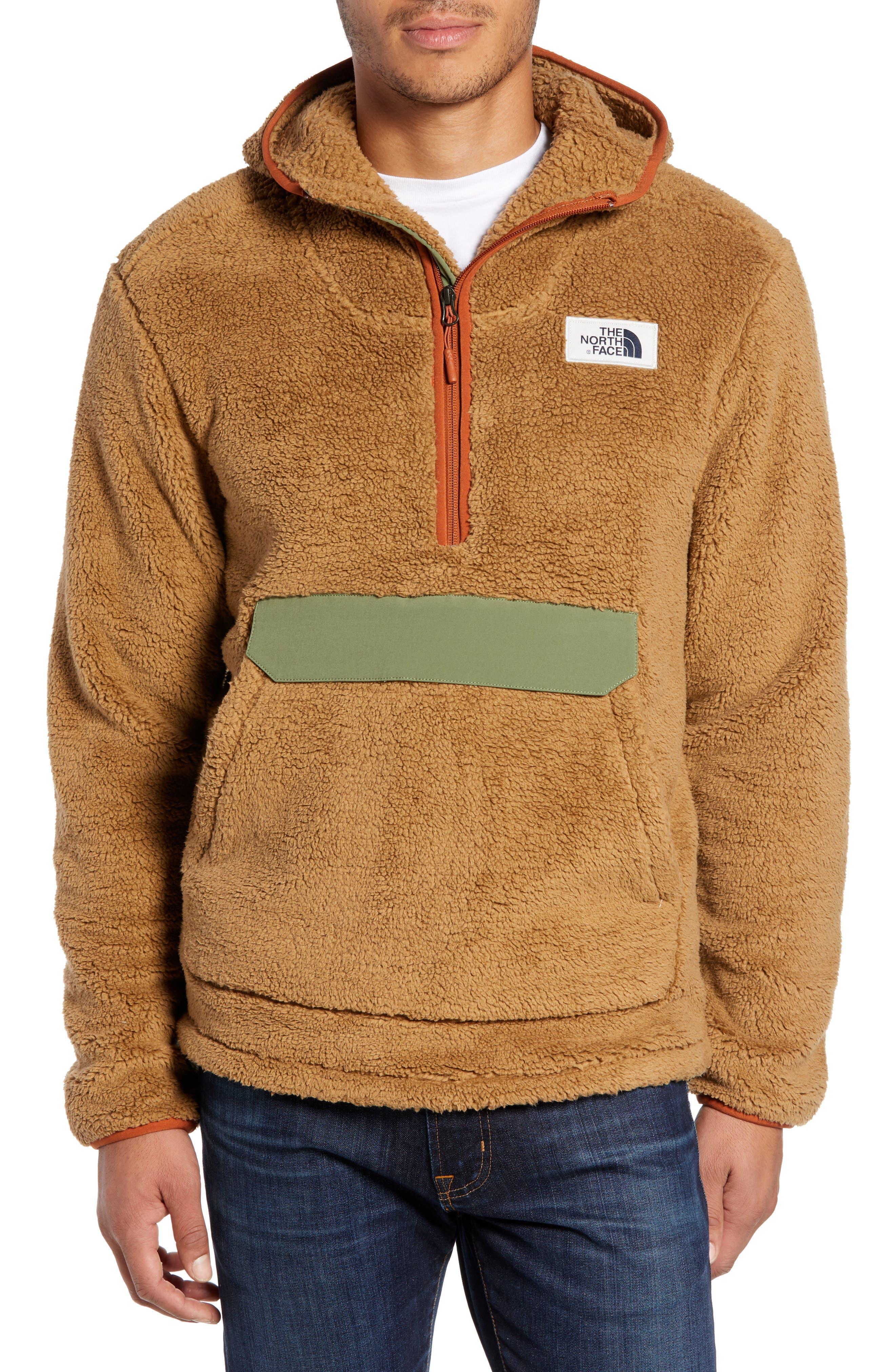 THE NORTH FACE Campshire Anorak Fleece Jacket, Main, color, CARGO KHAKI/ FOUR LEAF CLOVER