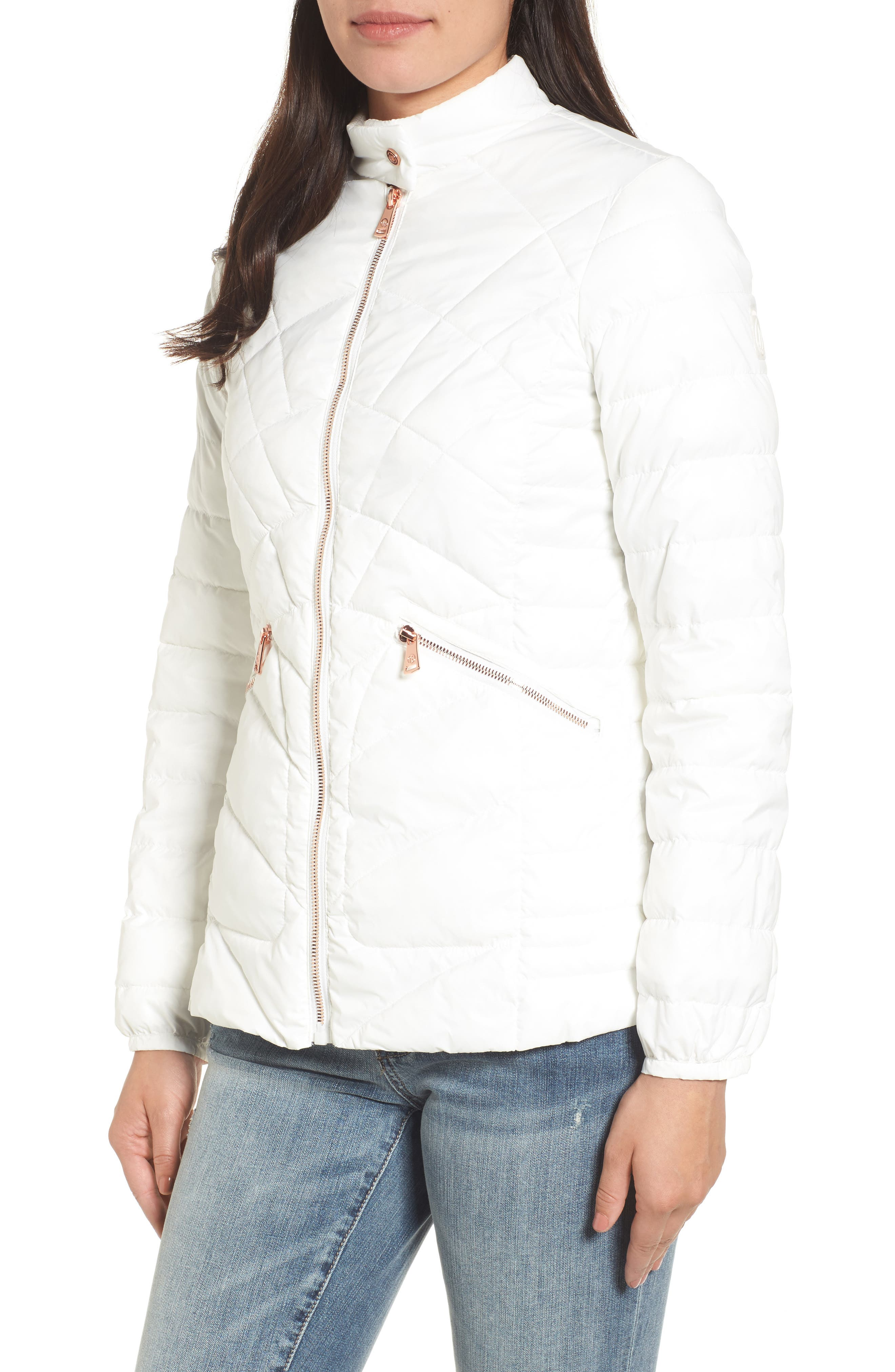 Water-Resistant Thermoplume Insulated Jacket,                             Alternate thumbnail 4, color,                             100