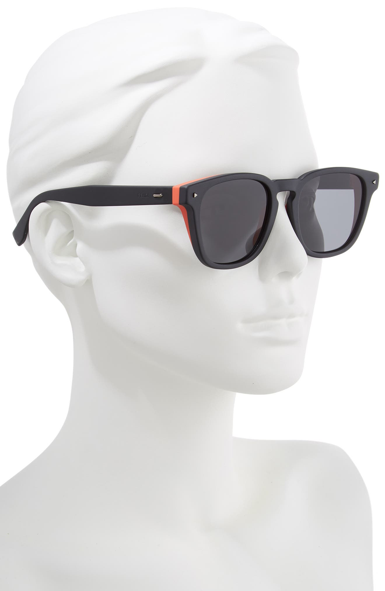 52mm Sunglasses,                             Alternate thumbnail 2, color,                             BLACK