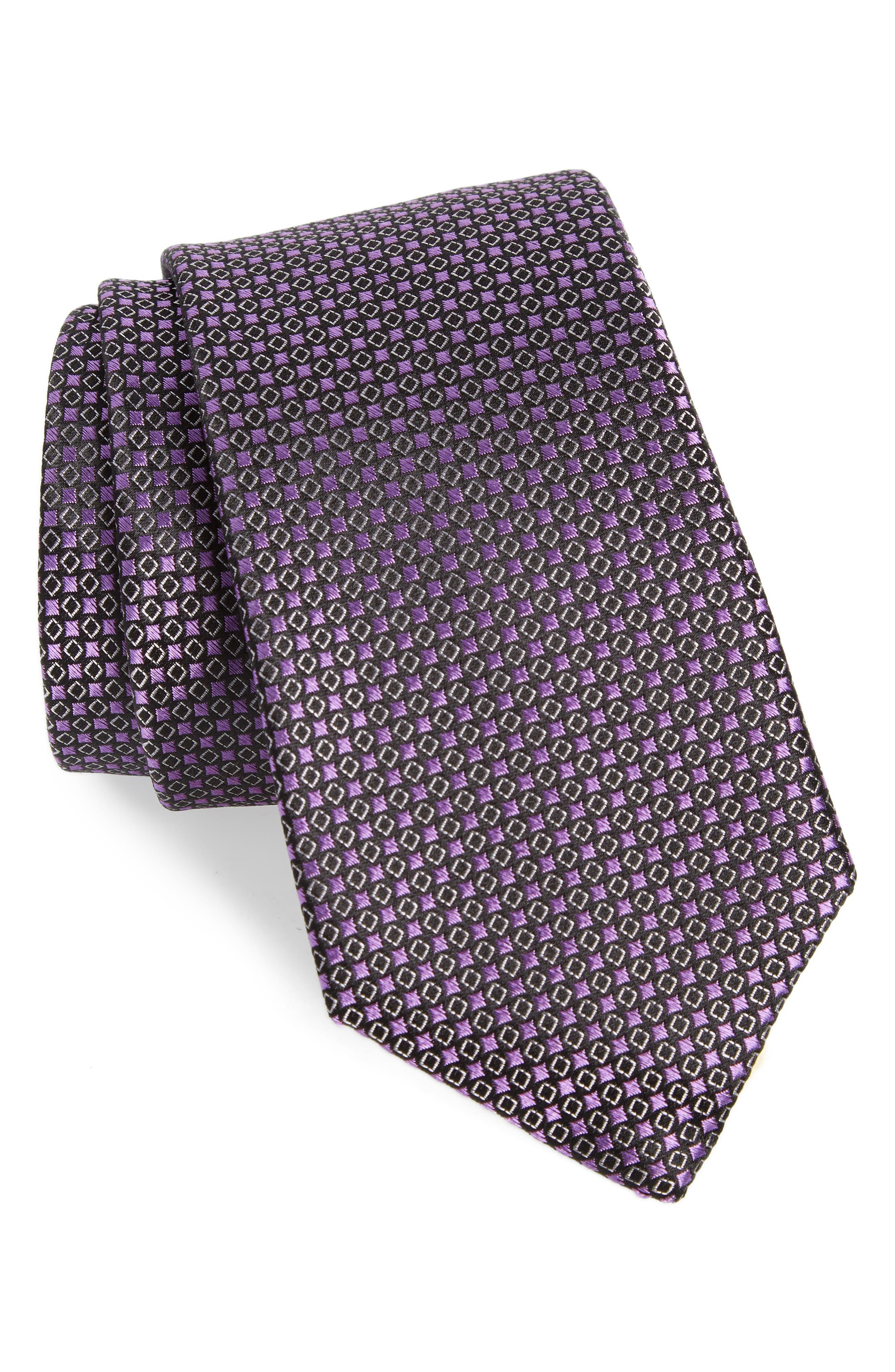 Chad Microdot Silk Tie,                             Main thumbnail 1, color,