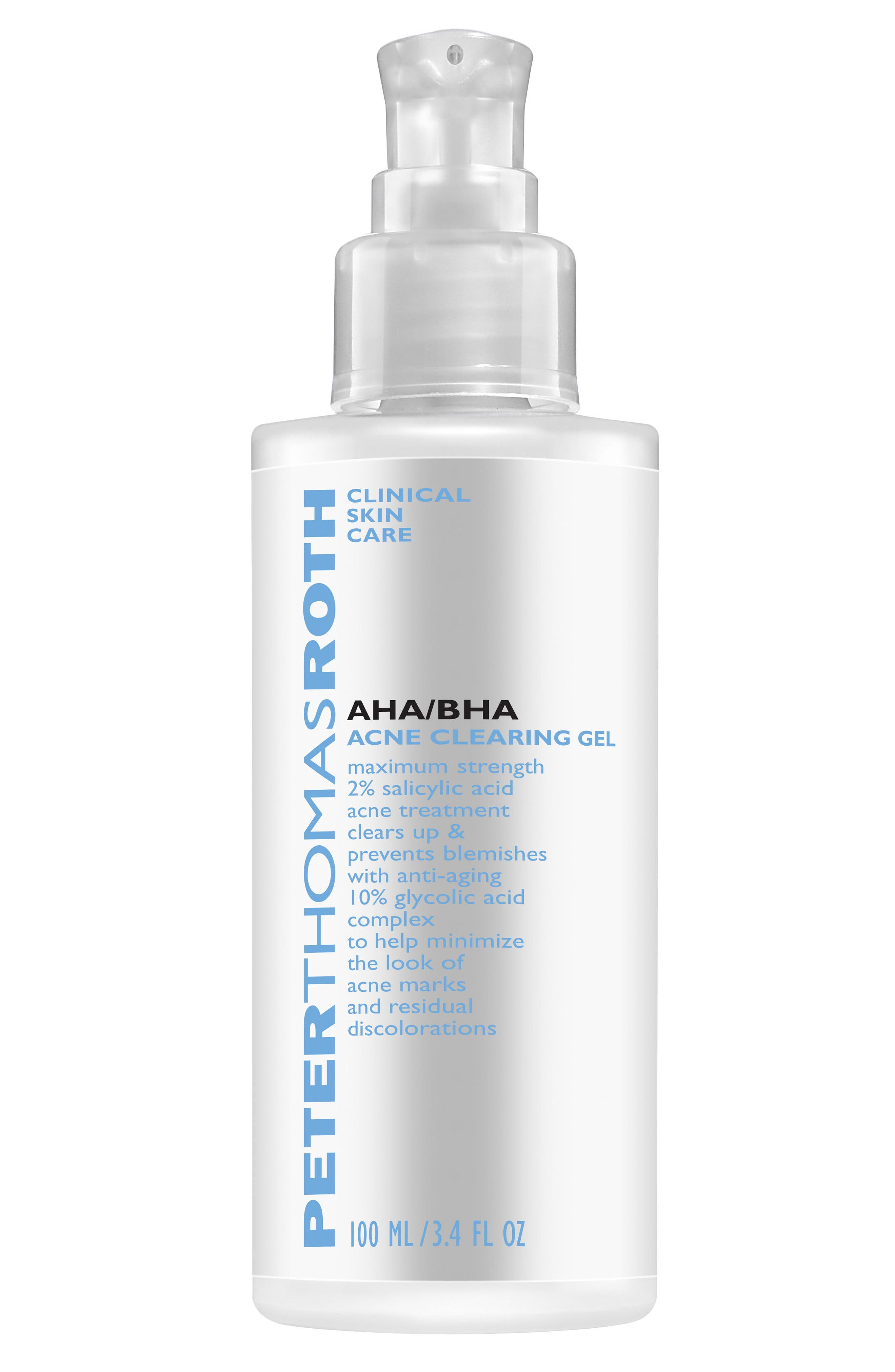 AHA/BHA Acne Clearing Gel,                         Main,                         color, NO COLOR
