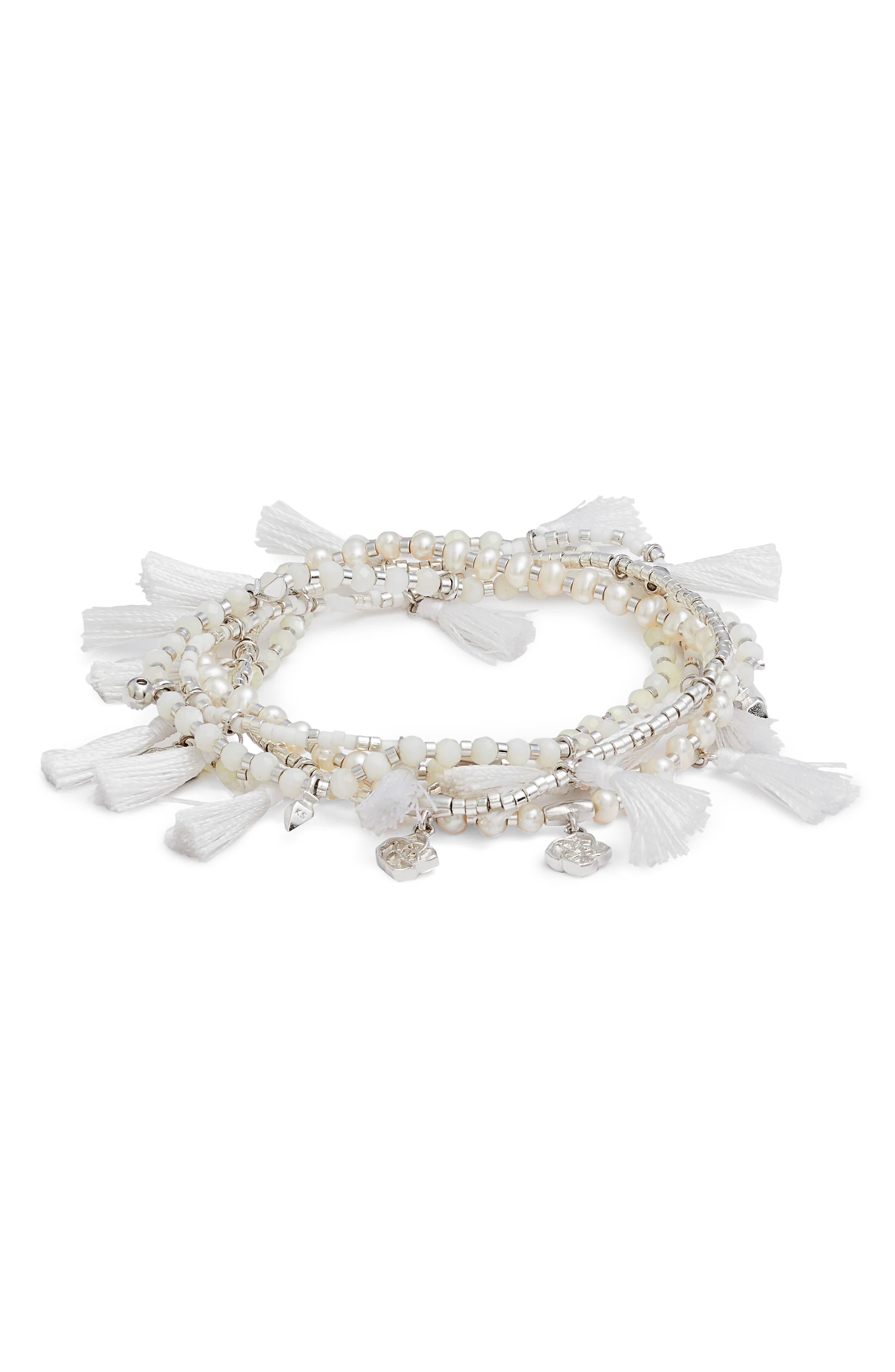 Julie Tassel Bracelet,                         Main,                         color, 100