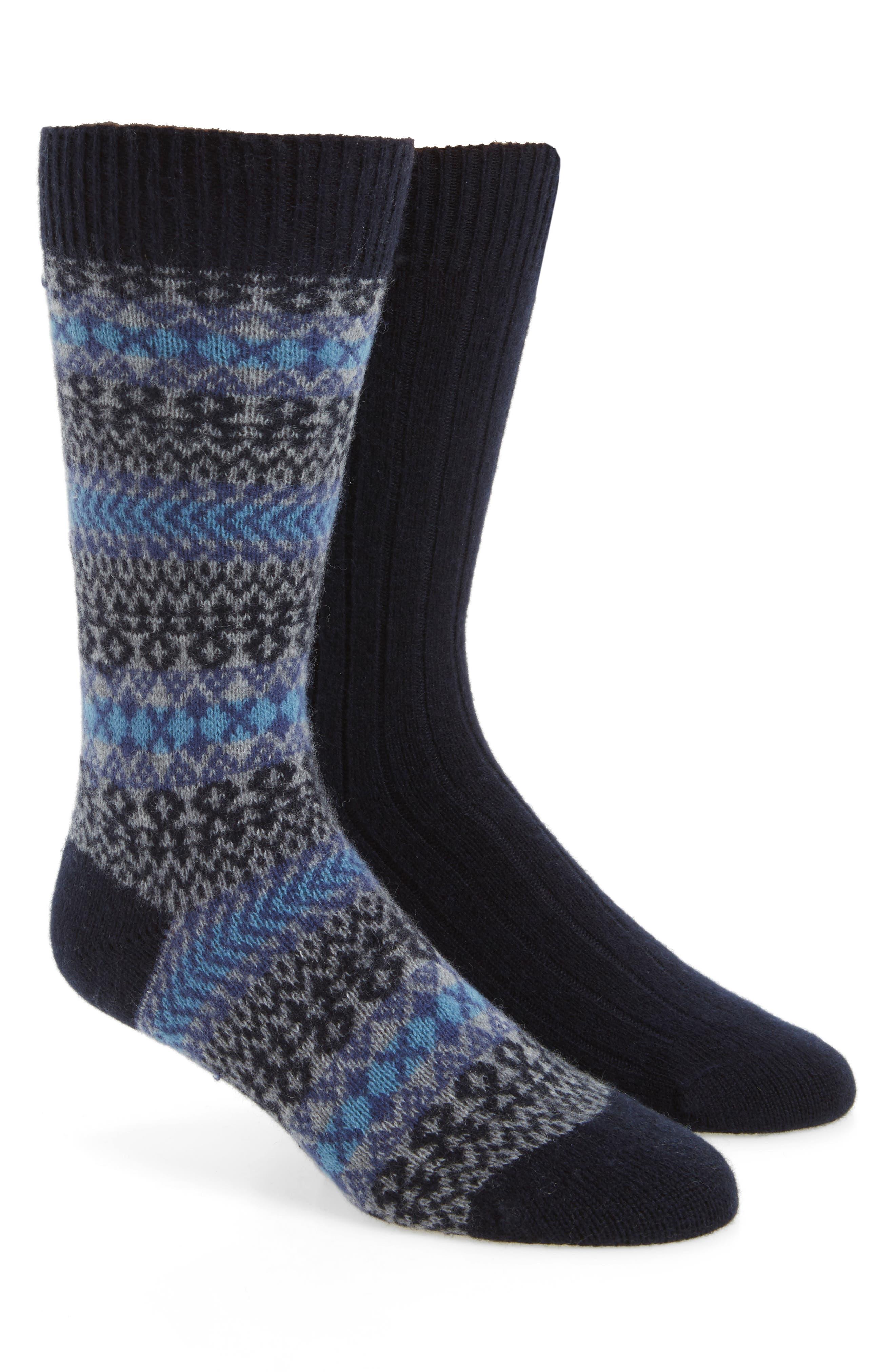 2-Pack Cashmere Blend Socks,                             Main thumbnail 3, color,