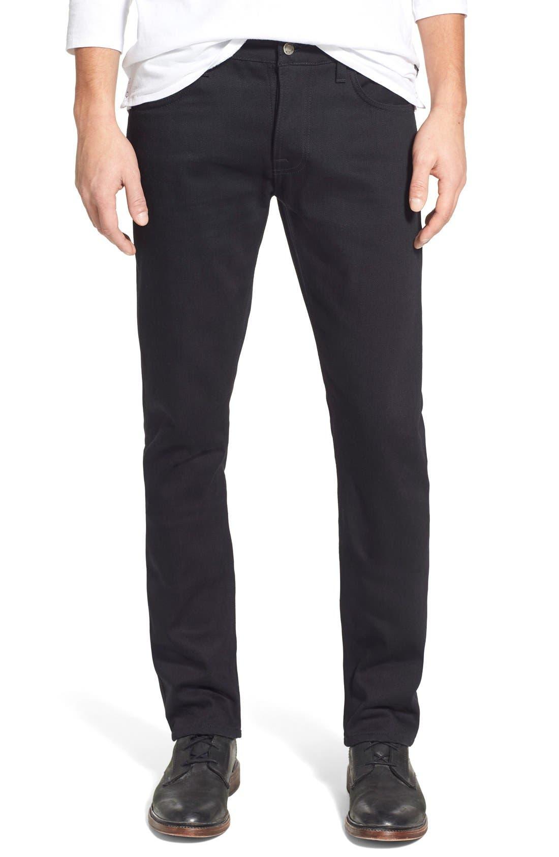 NUDIE JEANS,                             'Grim Tim' Slim Fit Raw Selvedge Jeans,                             Main thumbnail 1, color,                             001