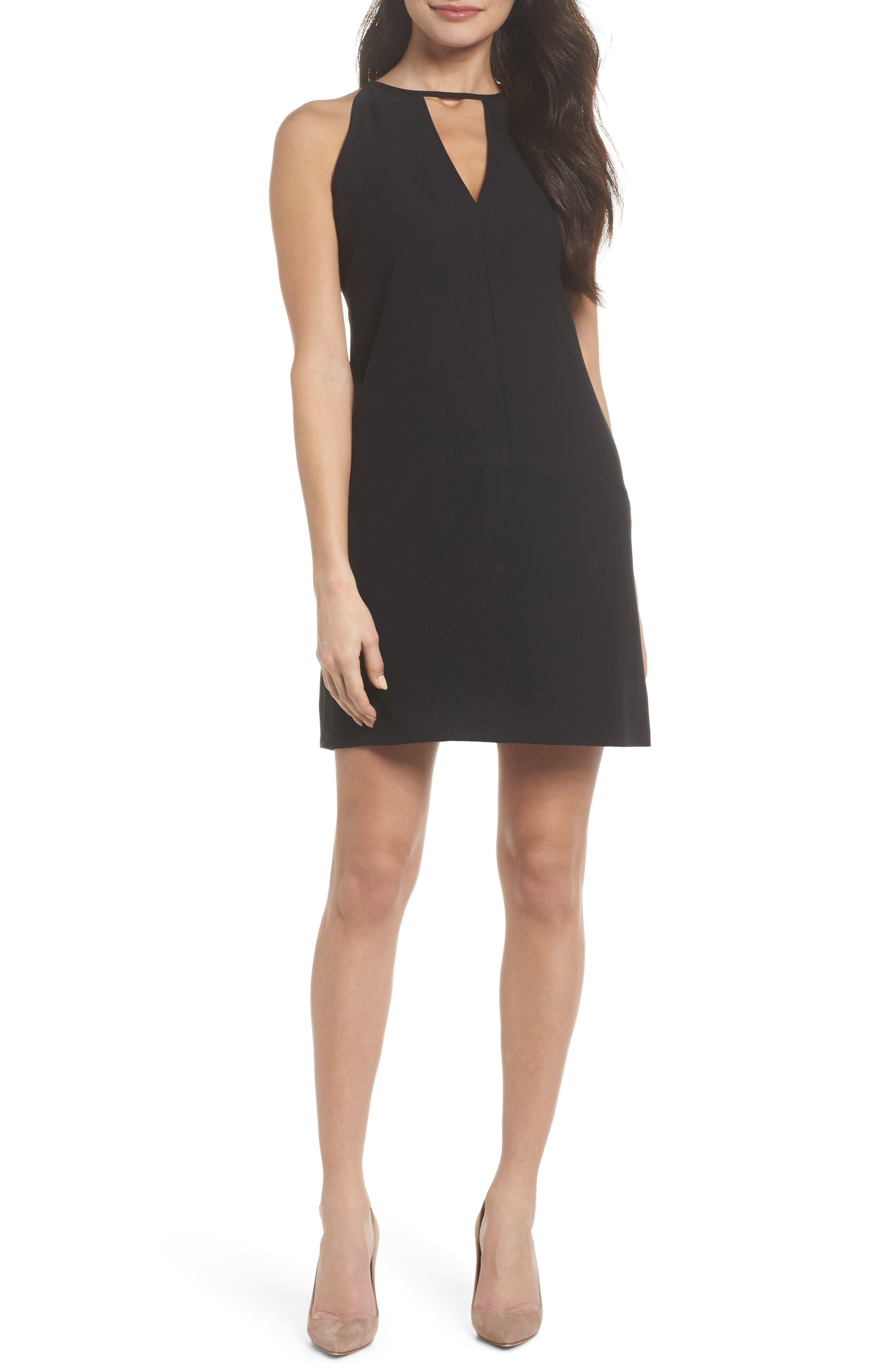 Sam Edelman Keyhole Shift Dress, Black