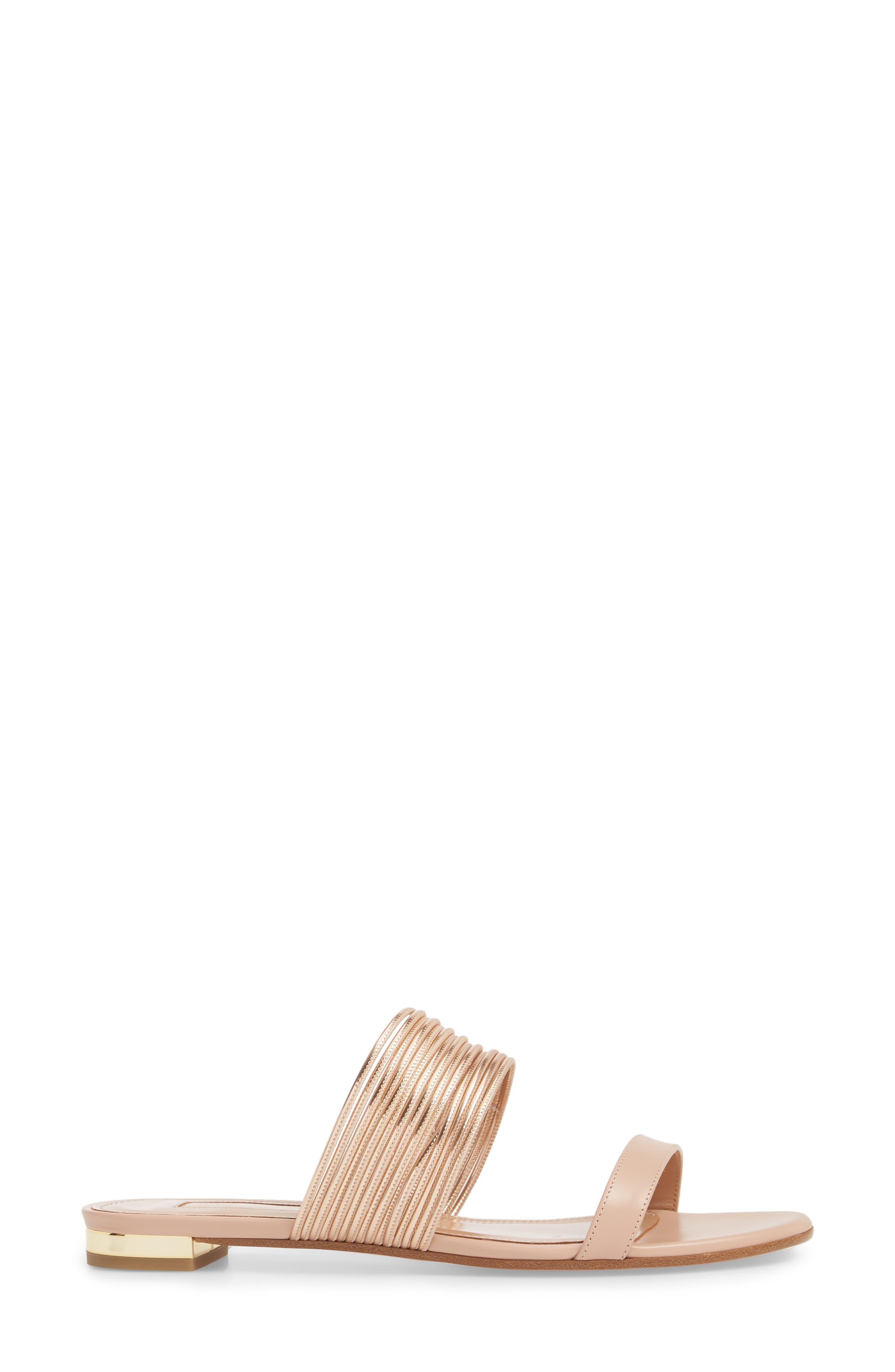 Rendezvous Metallic Sandal,                             Alternate thumbnail 3, color,                             POWDER PINK/CIPRIA
