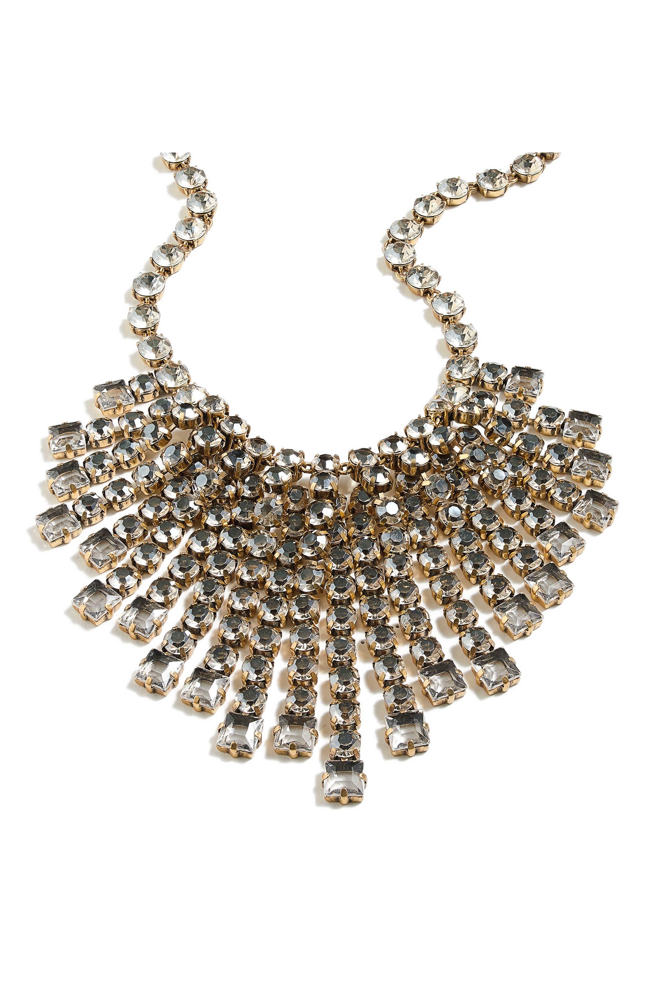 Cascading Crystal Necklace,                             Main thumbnail 1, color,