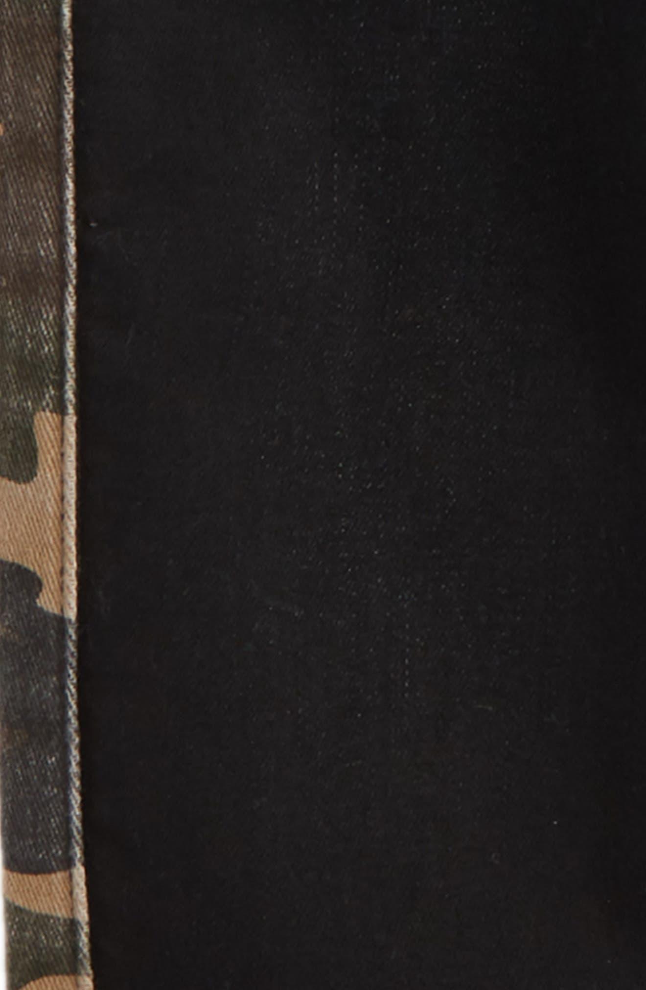 Side Stripe Denim Jogger Pants,                             Alternate thumbnail 2, color,                             001