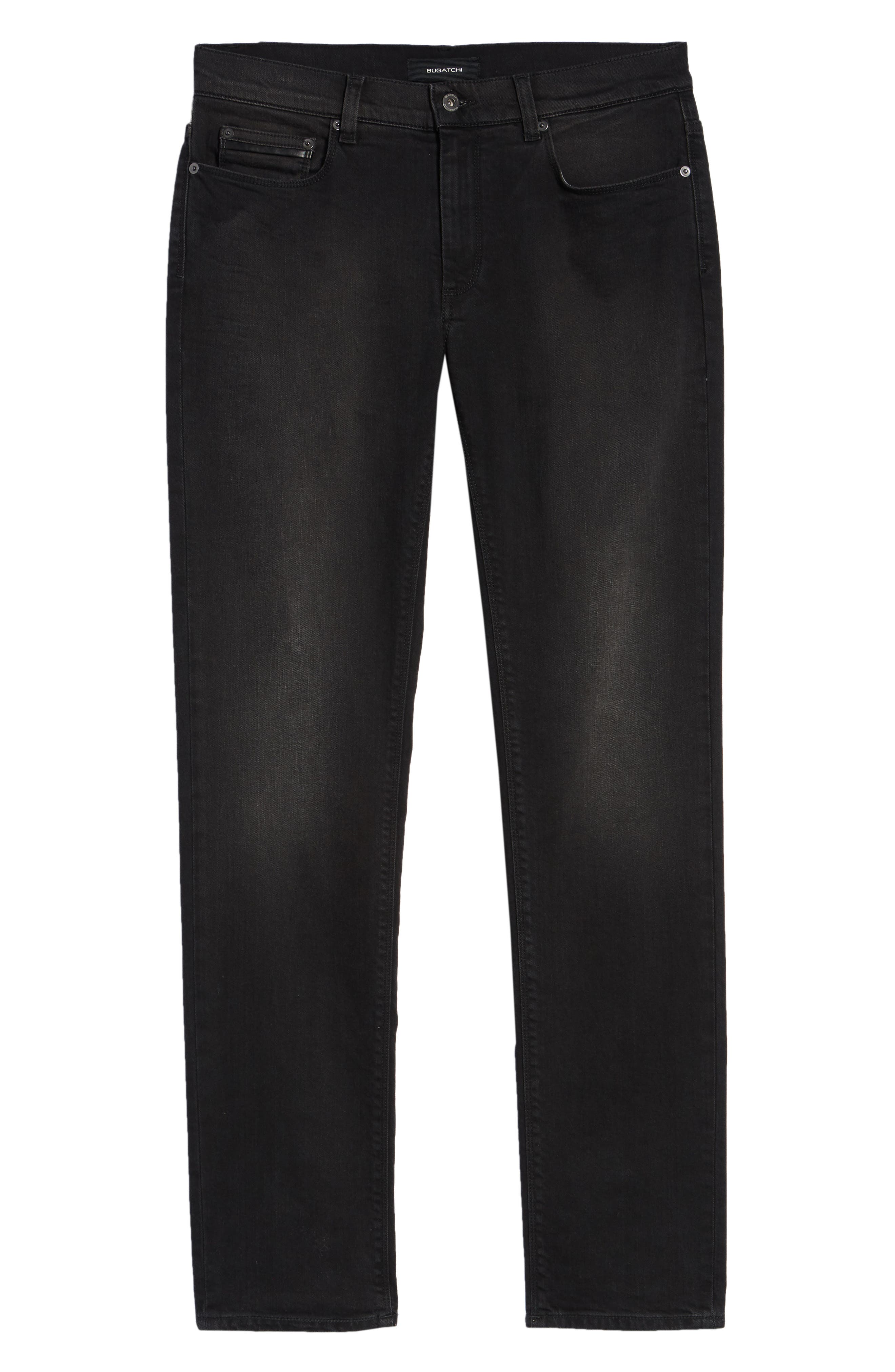 Slim Fit Jeans,                             Alternate thumbnail 6, color,                             BLACK