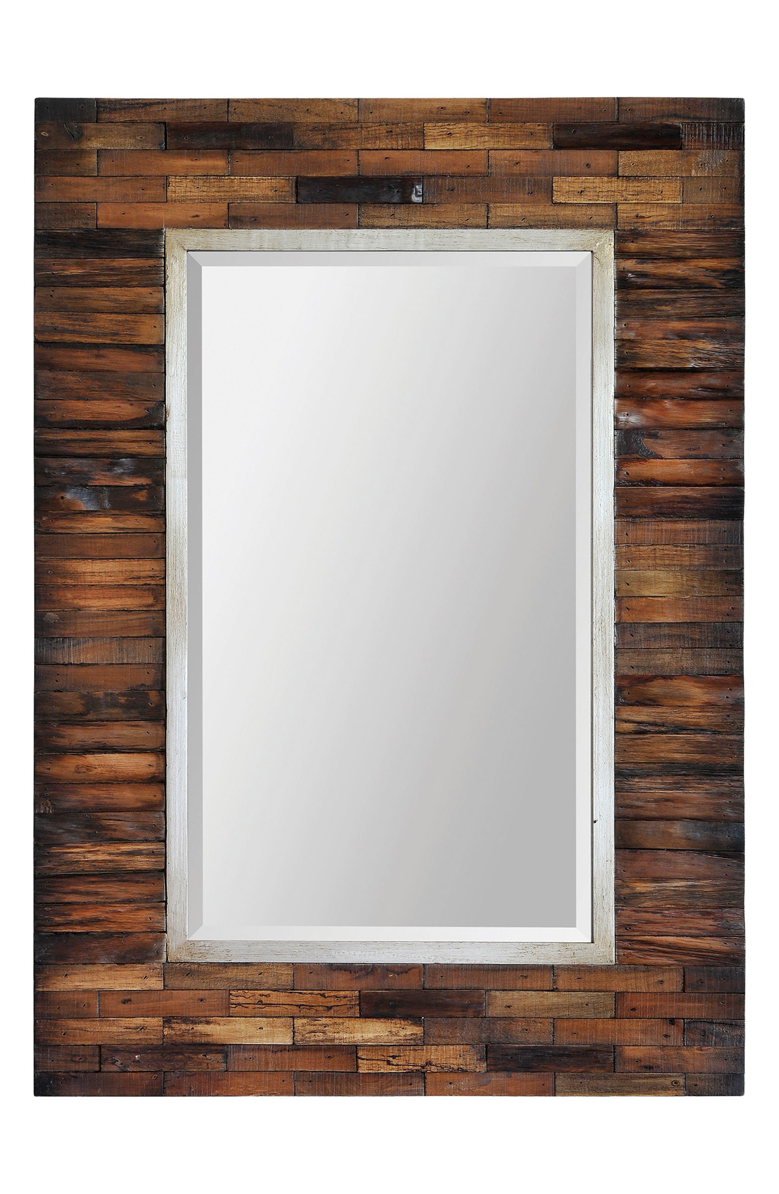 Pretoria Wood Mirror,                             Main thumbnail 1, color,                             200