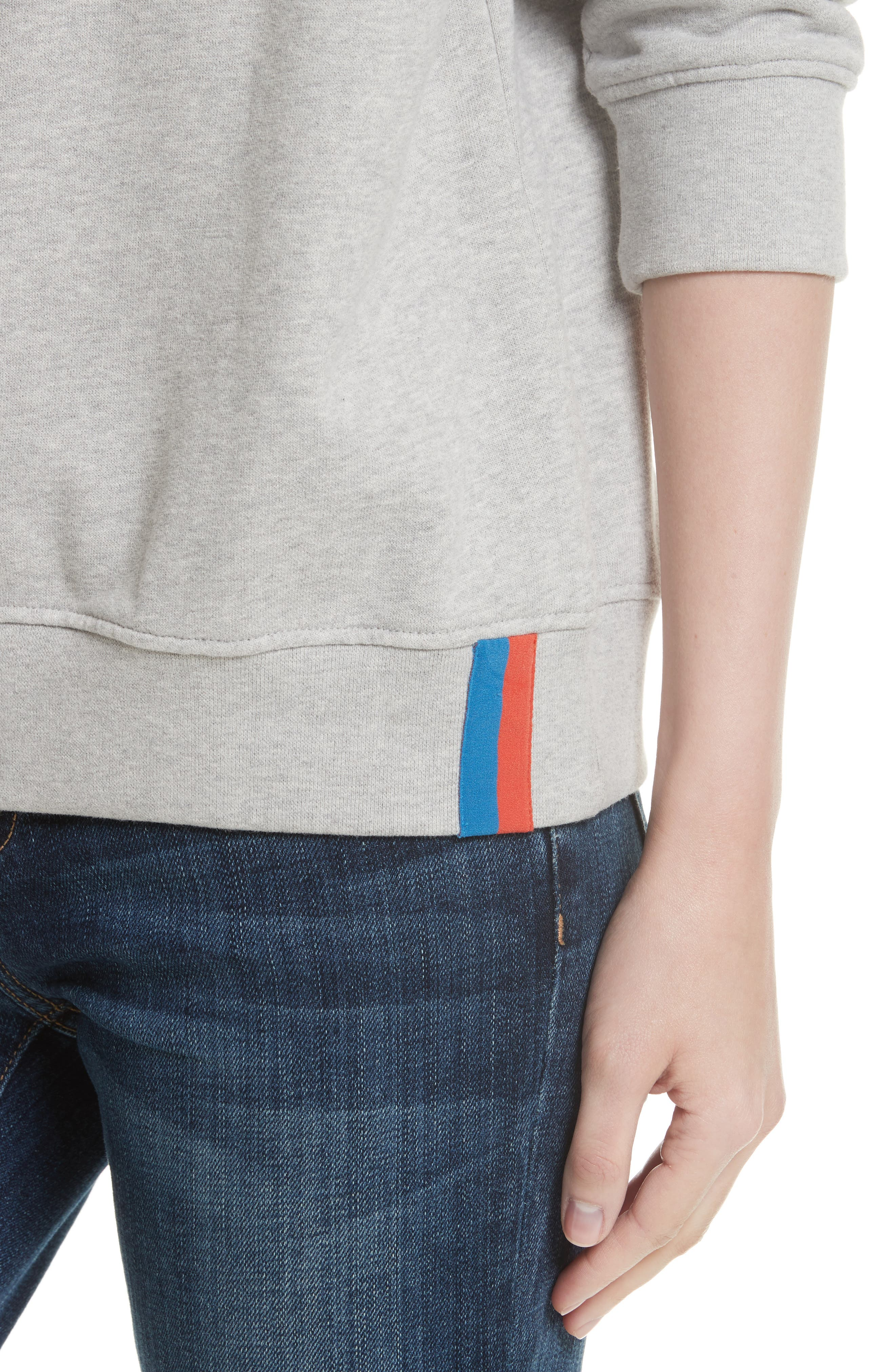 Cotton Sweatshirt,                             Alternate thumbnail 4, color,                             HEATHER GREY