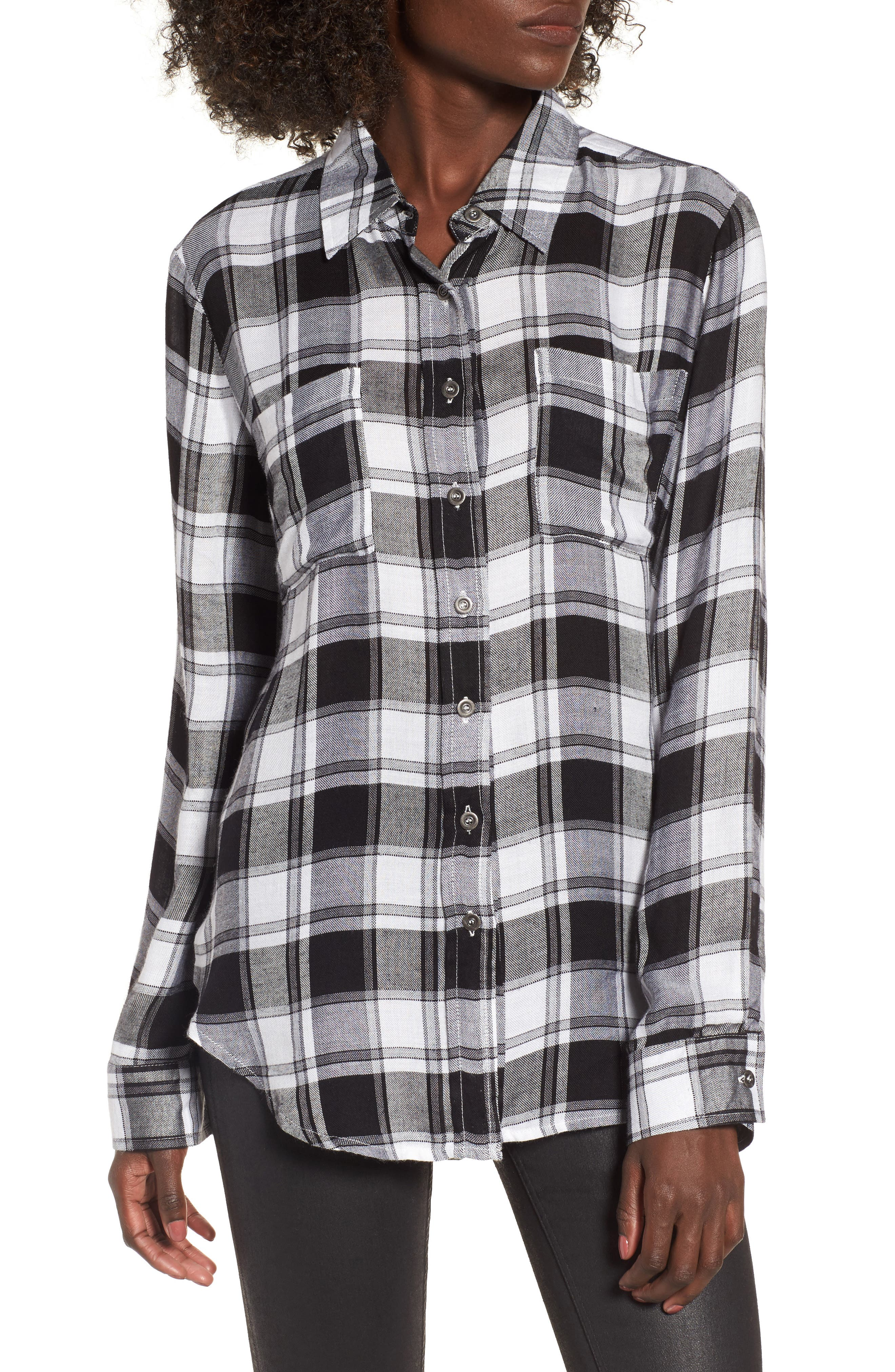 Anarchy Plaid Shirt,                         Main,                         color, 001