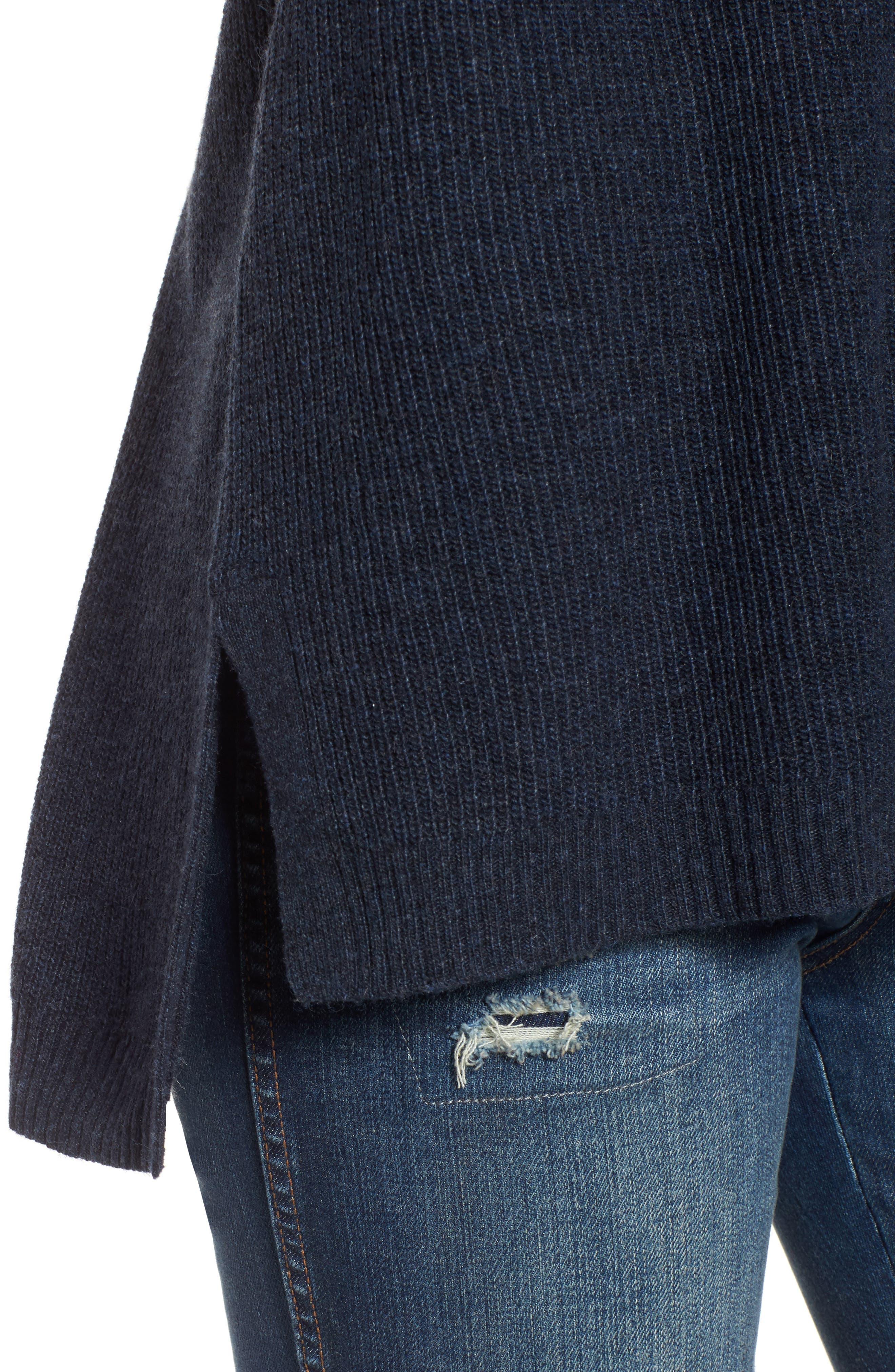 Warmlight V-Neck Sweater,                             Alternate thumbnail 4, color,                             400