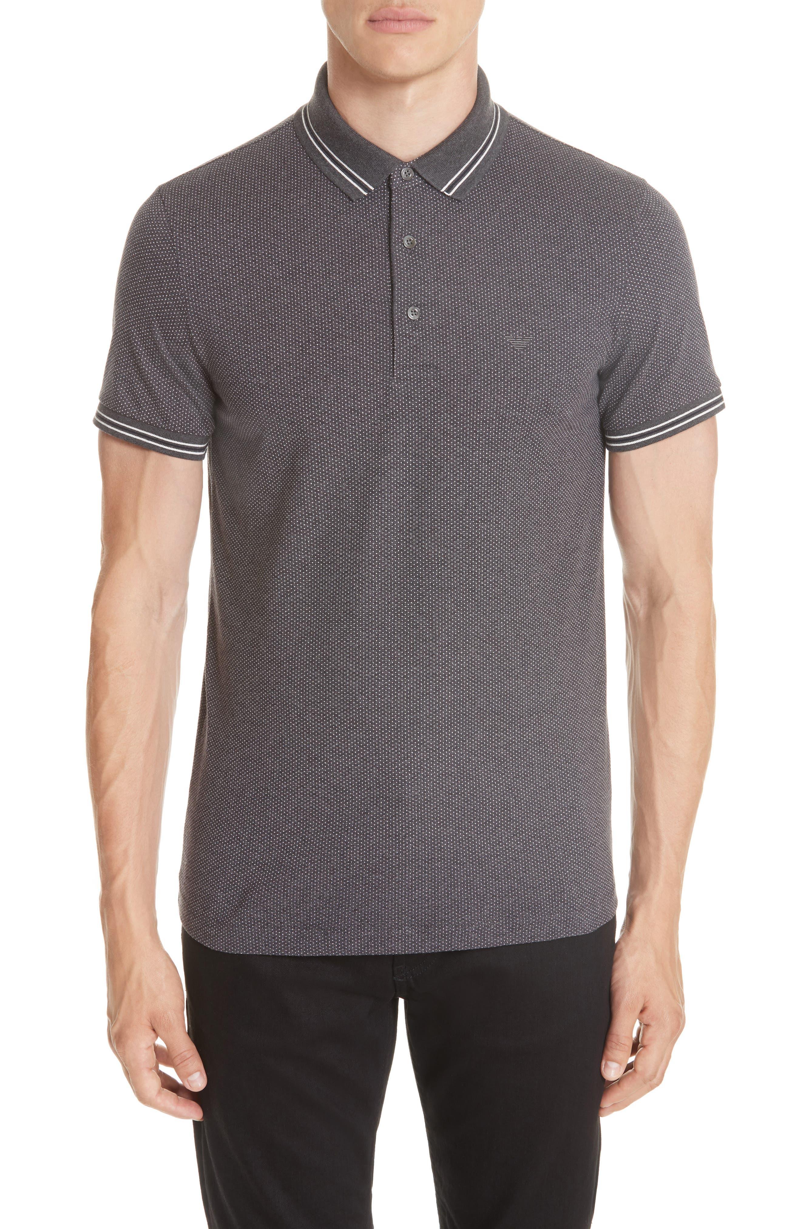 Cotton Polo Shirt,                             Main thumbnail 1, color,                             BLACK