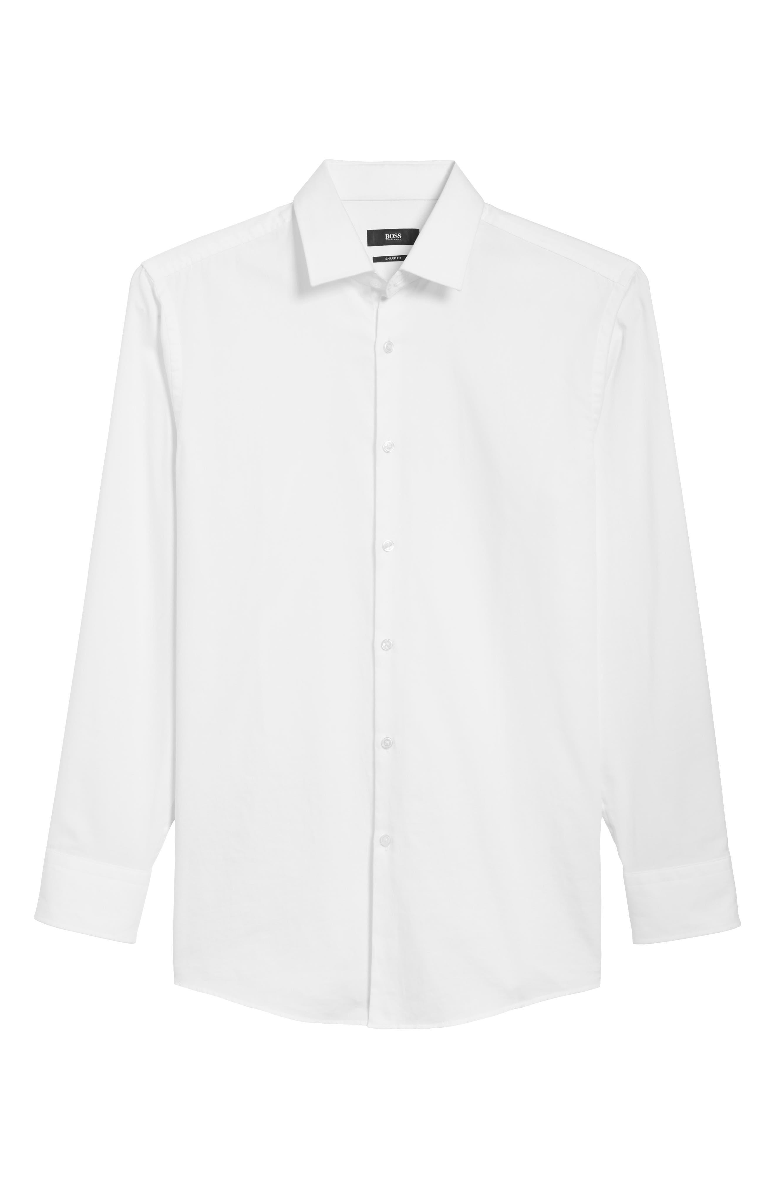 Rod Trim Fit Check Oxford Sport Shirt,                             Alternate thumbnail 12, color,