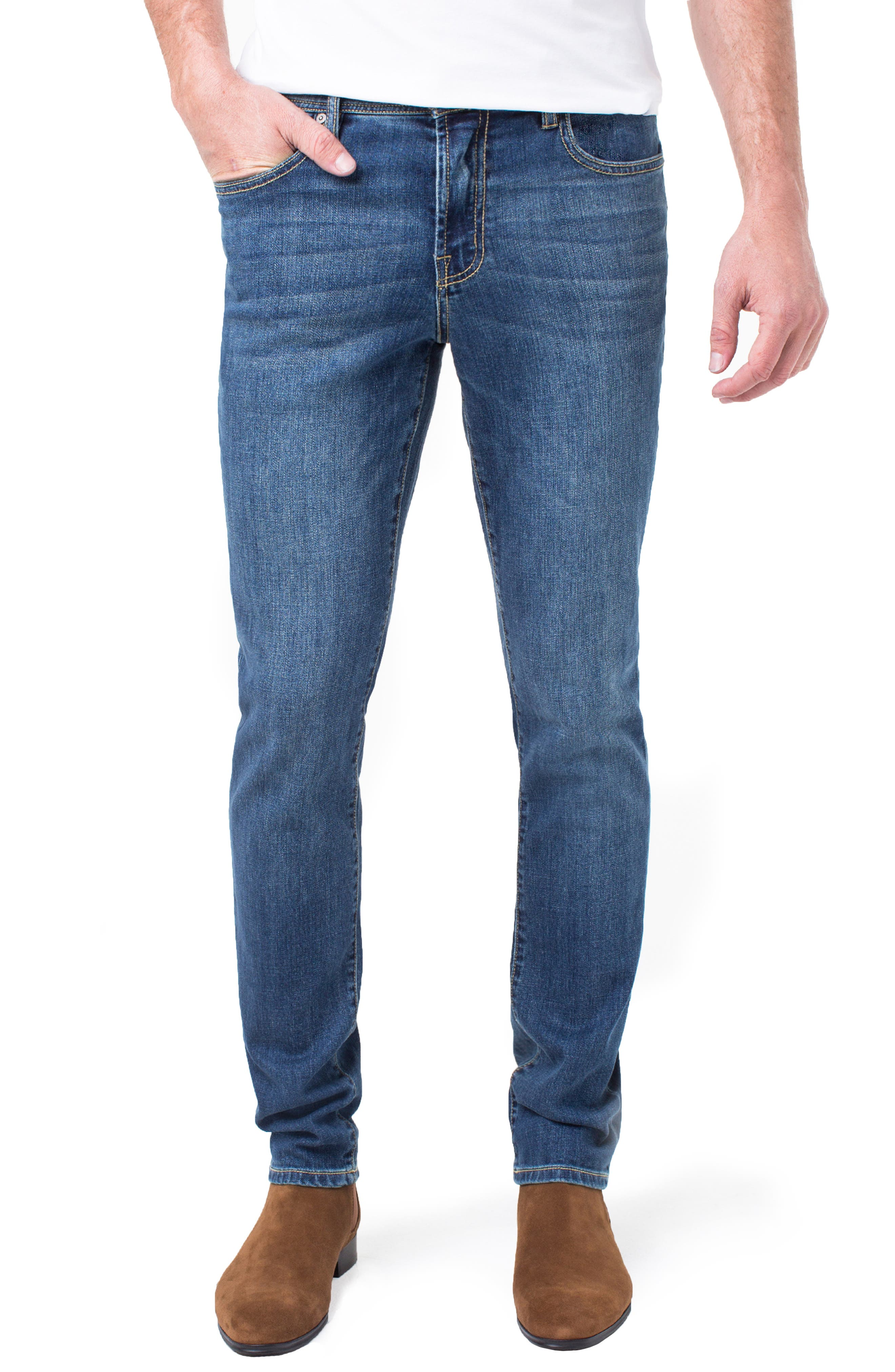 Kingston Slim Straight Leg Jeans,                         Main,                         color, MARINA DARK